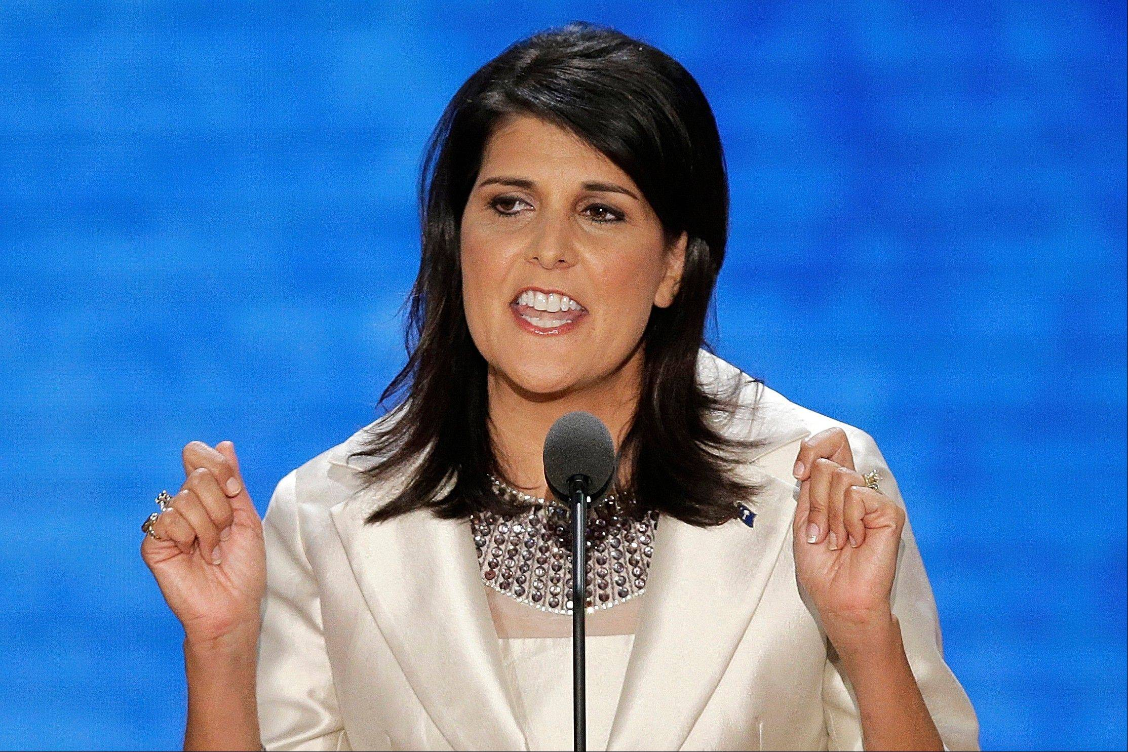 Associated Press South Carolina Governor Nikki Haley.