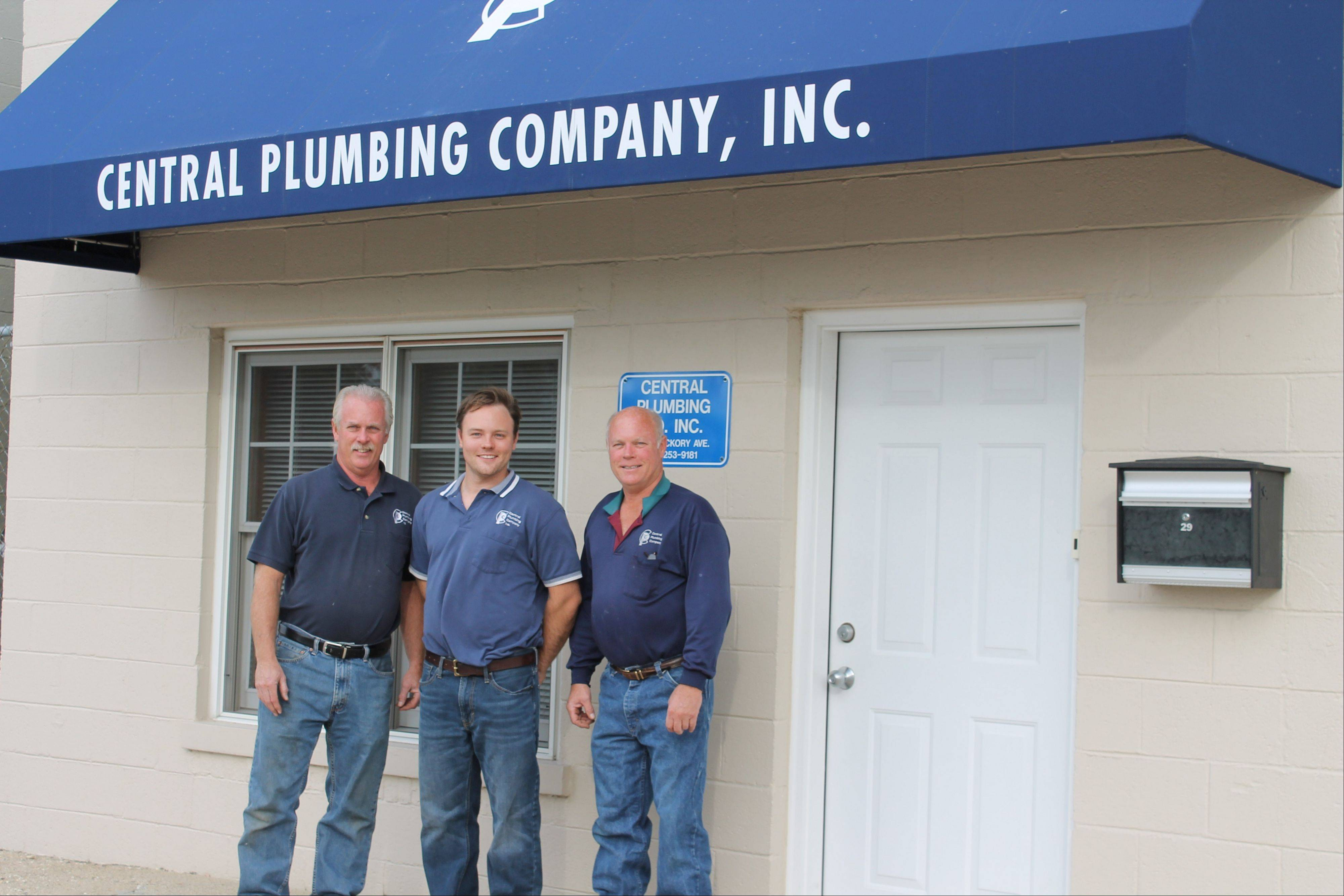 Tom, left, Rob and Kevin Ryan of Central Plumbing Company Inc. in Arlington Heights say plumbers in their family date back to the 1920s.