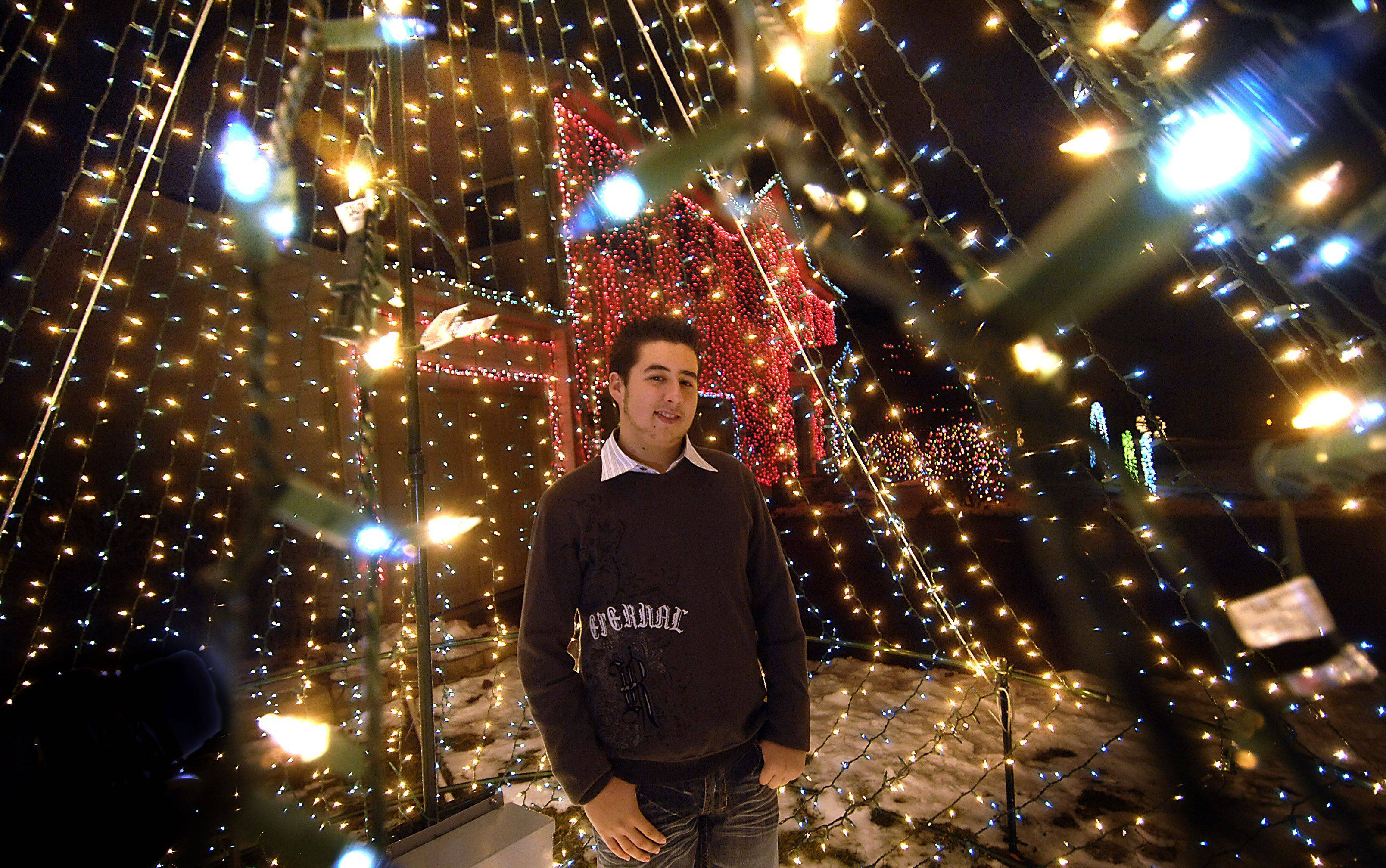 Nicholas Miele won the Daily Herald�s holiday lights contest in 2009 with his massive display at 1199 Meadow Drive in Batavia.