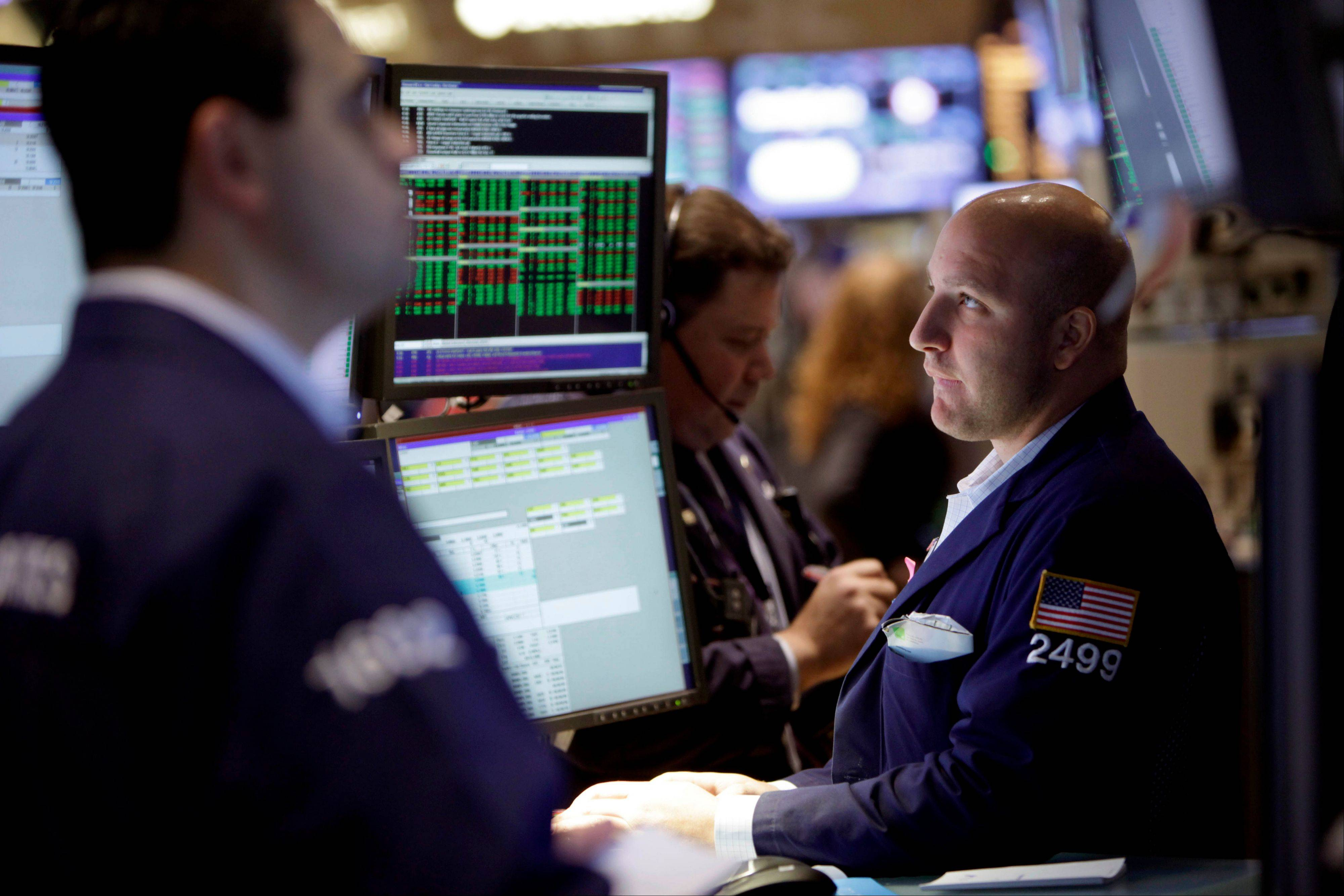U.S. stocks fell, following a two-week advance for the Standard & Poor's 500 Index, as an unexpected contraction in manufacturing spurred concern about the potential economic toll from the so-called fiscal cliff.