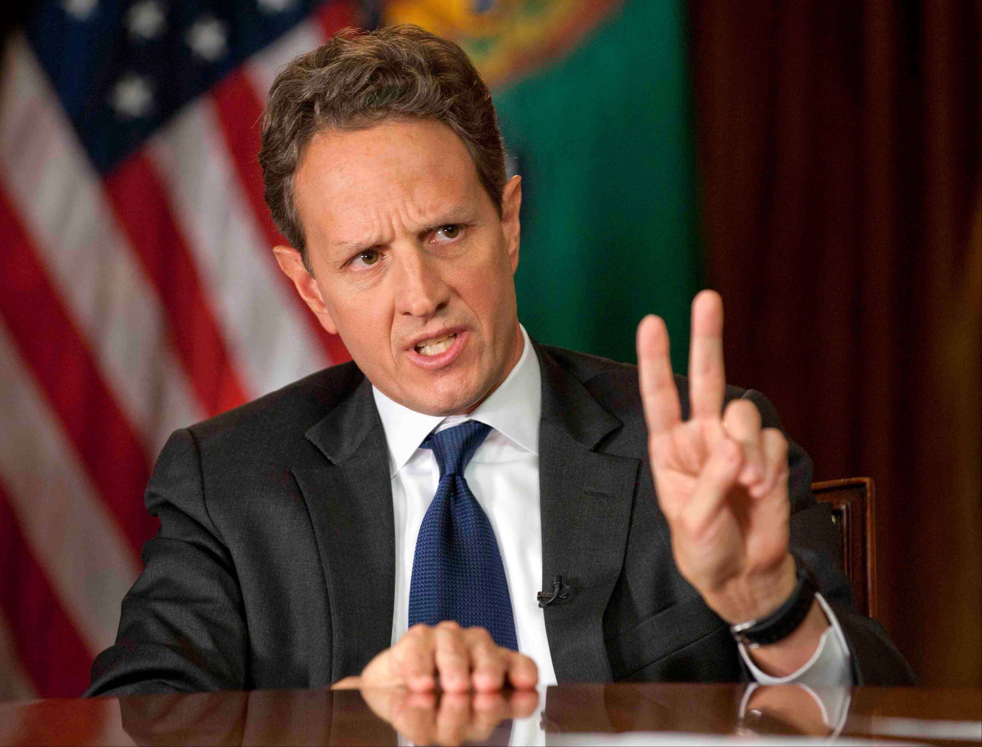 Treasury secretary Timothy Geithner said Republicans have to stop using fuzzy 'political math' and say how much they are willing to raise tax rates on the wealthiest 2 percent of Americans and then specify the spending cuts they want.