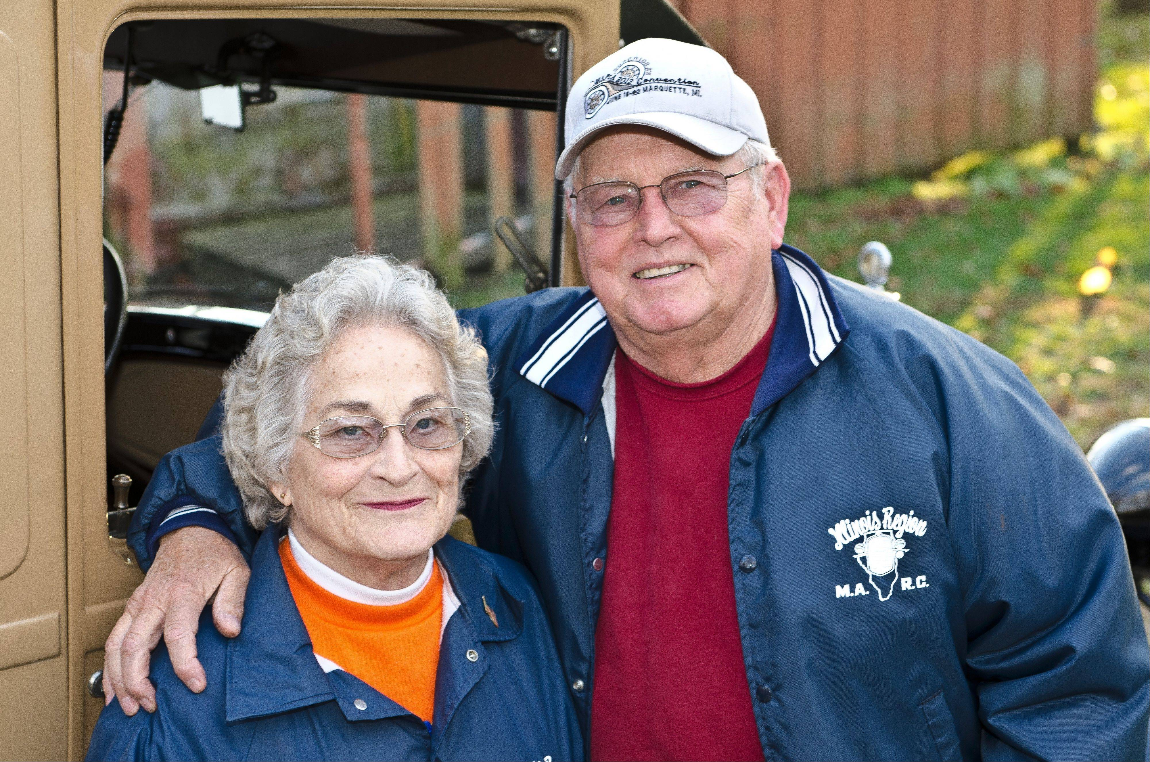 Mike and LaVerne Podgorski of Barrington say their grandchildren and great-grandchildren enjoy riding in the Model A's.