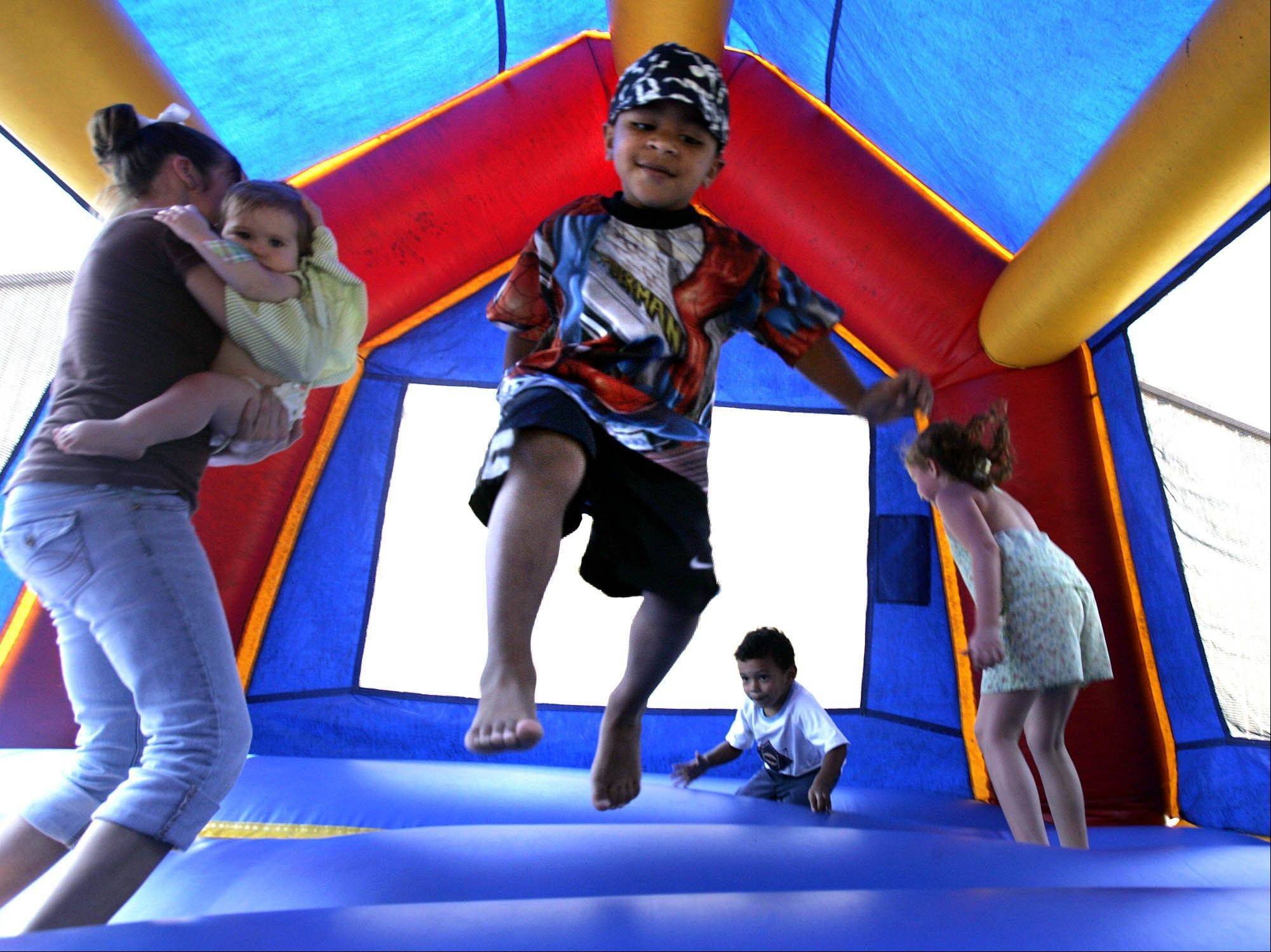 A nationwide study has found inflatable bounce houses can be dangerous and the number of kids injured in related accidents has soared 15-fold in recent years.