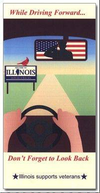Abby Friedman, a student at Highland Park High School, won the Illinois tollway's 2013 map cover contest. The theme was remembering veterans.