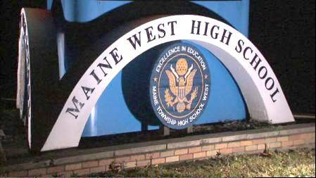 Maine West High School is located at 1755 South Wolf Road in Des Plaines.