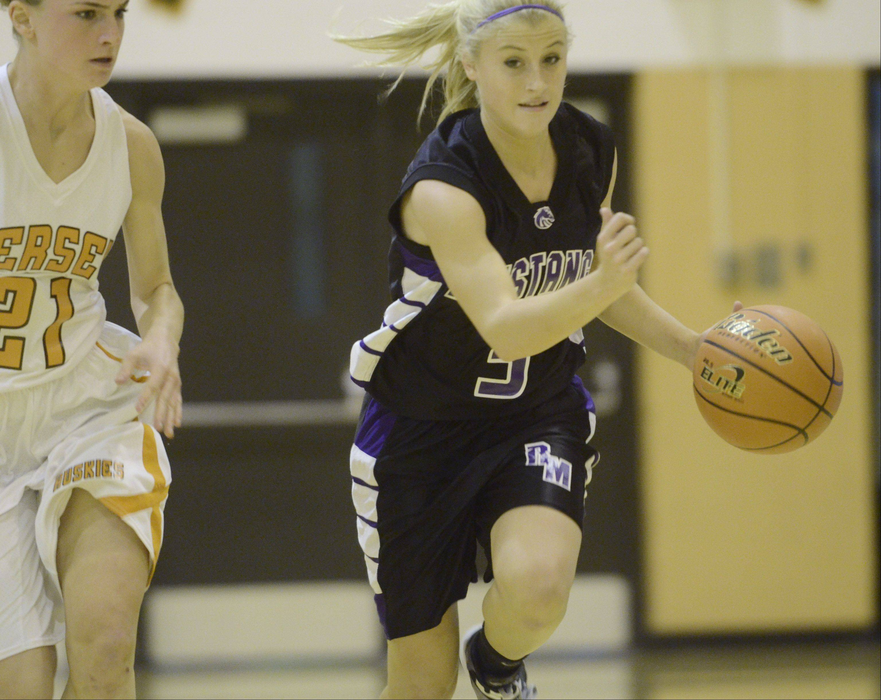 Images from the Rolling Meadows vs Hersey girls basketball game on Tuesday, December 4th, in Arlington Heights.