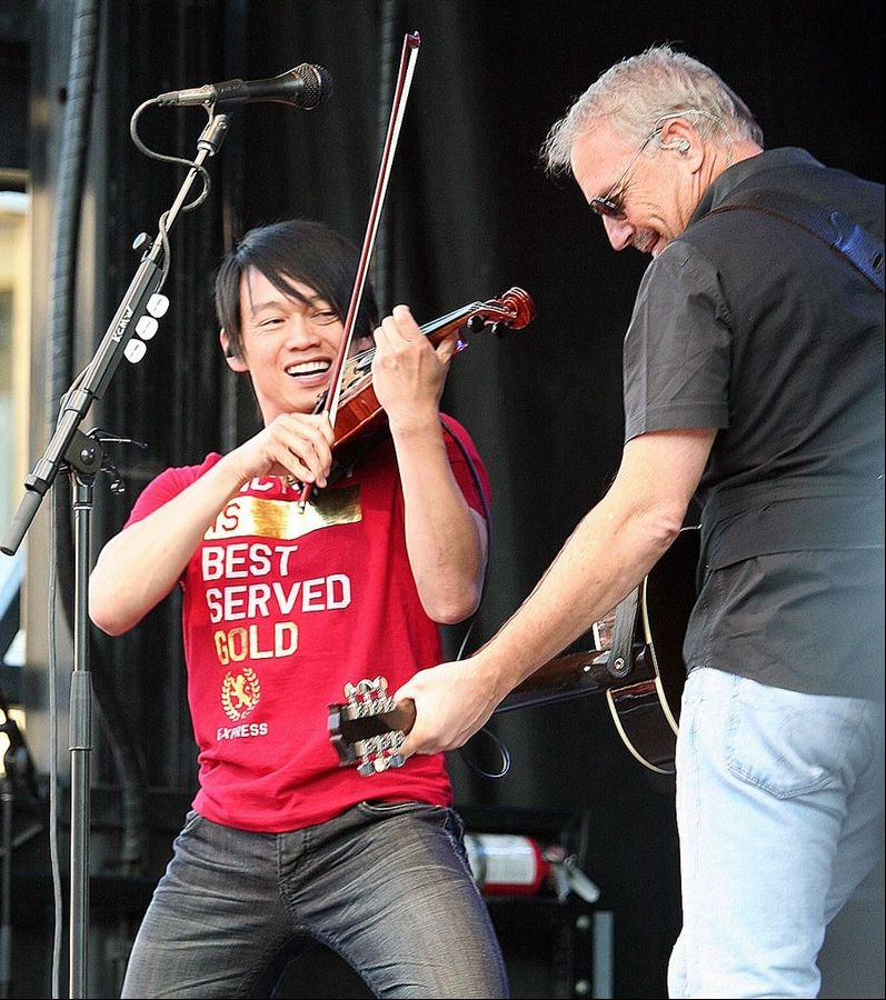 When not touring with the Trans-Siberian Orchestra, Schaumburg native Roddy Chong plays with actor Kevin Costner and his band, Kevin Costner & Modern West.