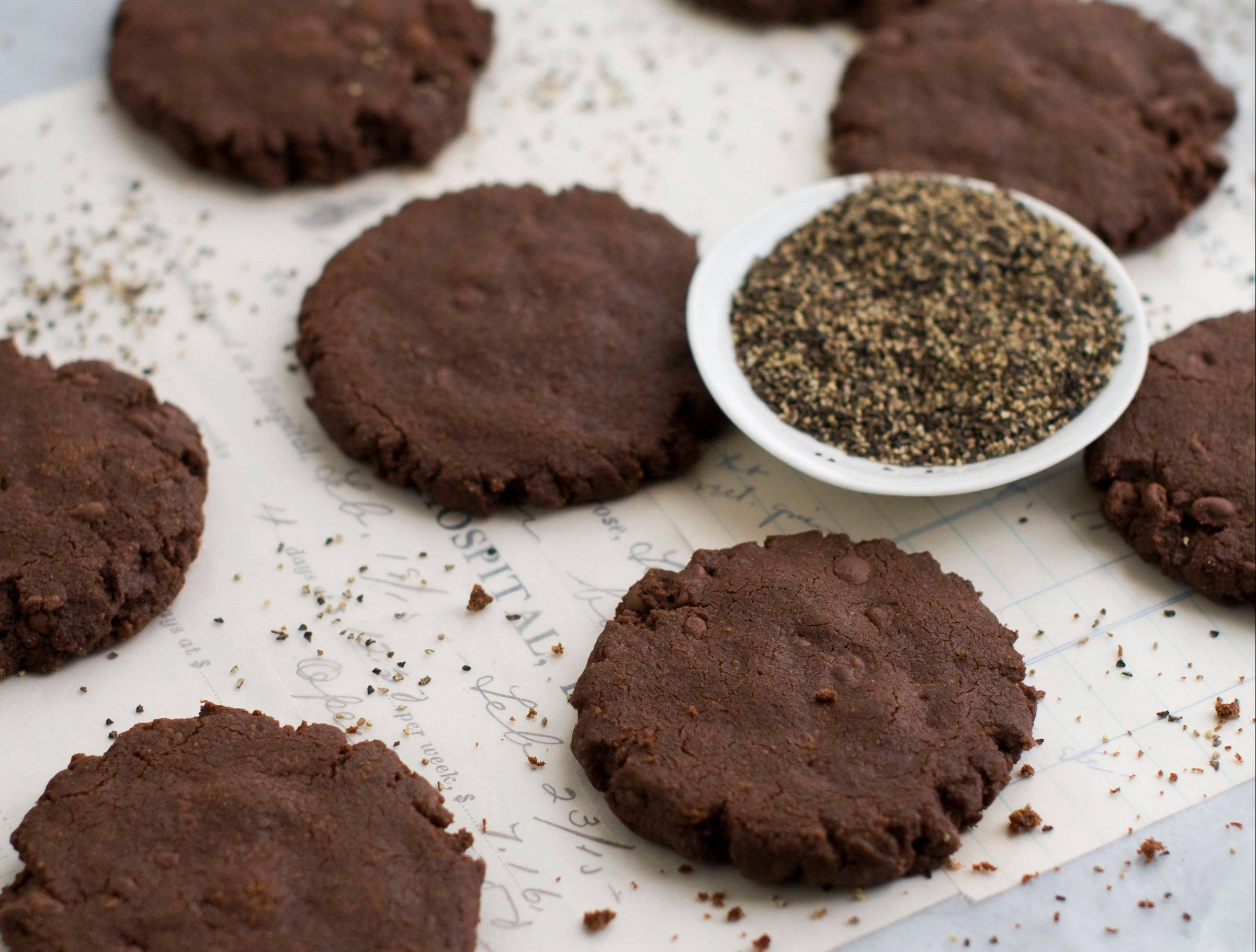 Use freshly ground black pepper for these French-style shortbread cookies.
