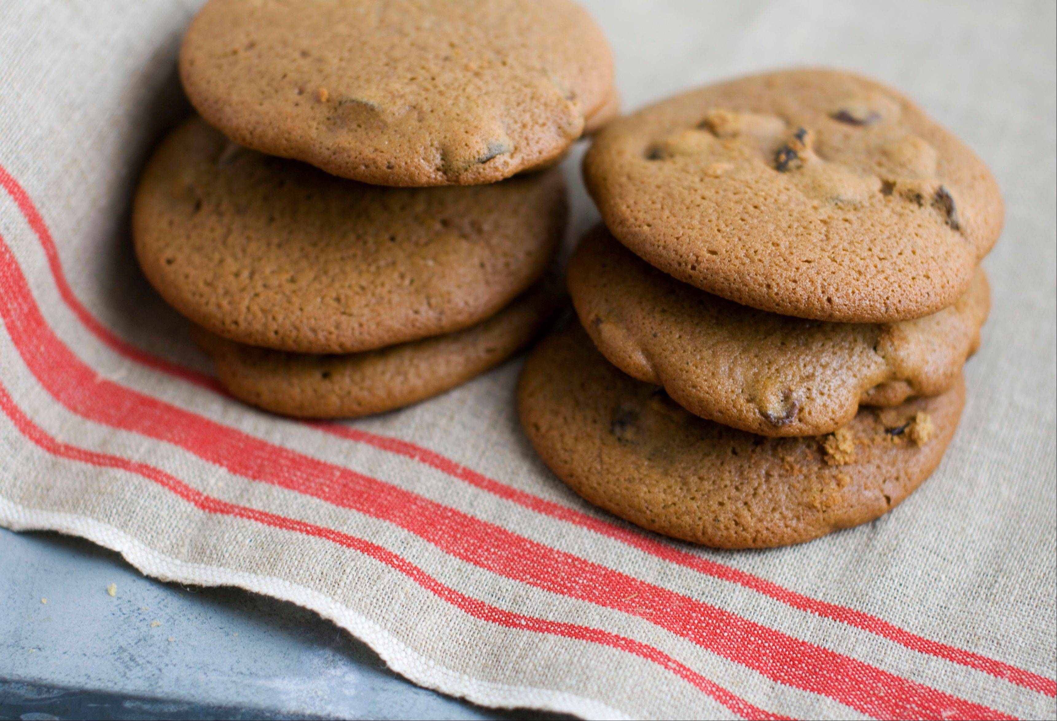 Dried cherries stand in for raisins in these drop cookies lovingly referred to as hermits.