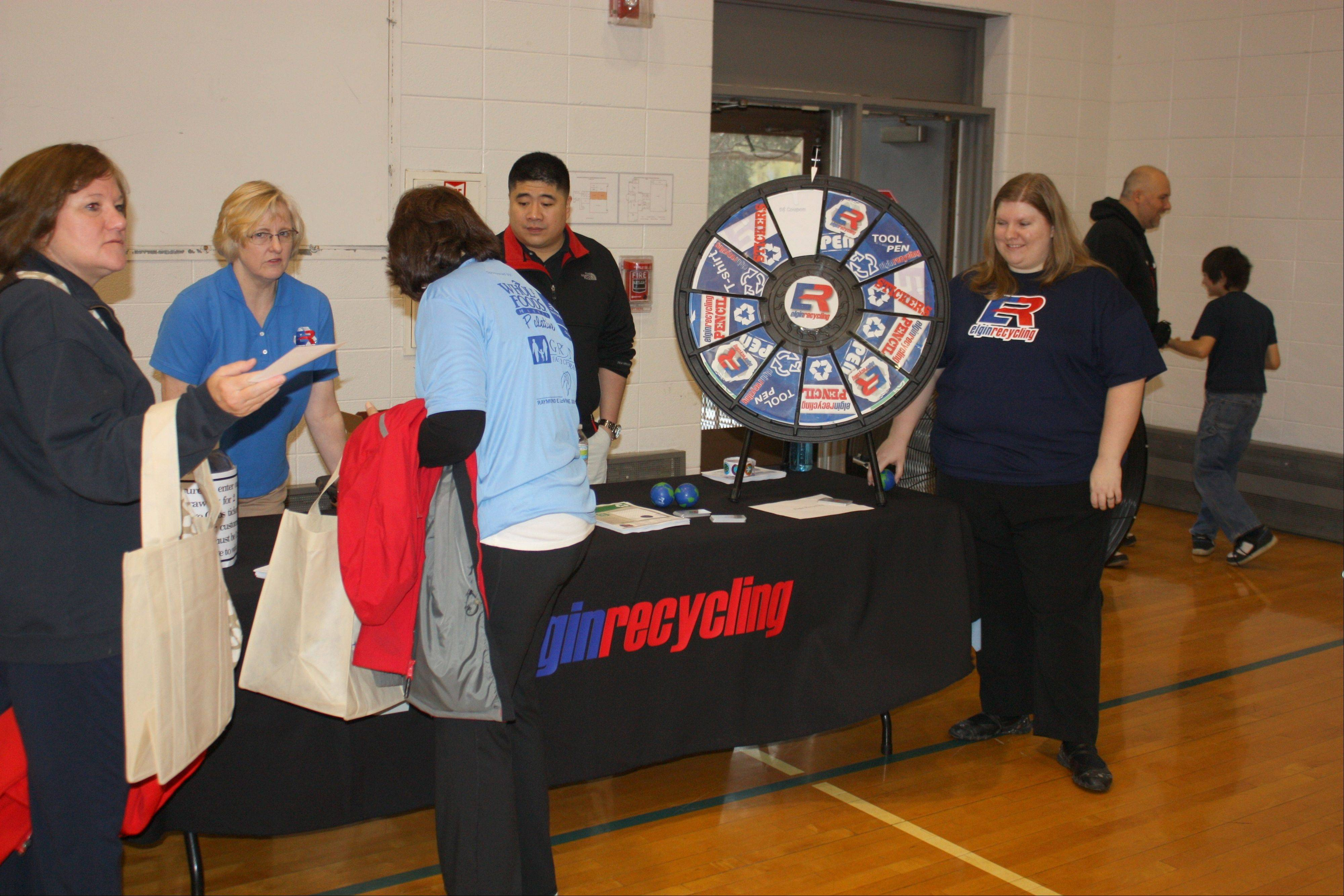Visitors to last year's Healthy Living Expo learn about recycling.