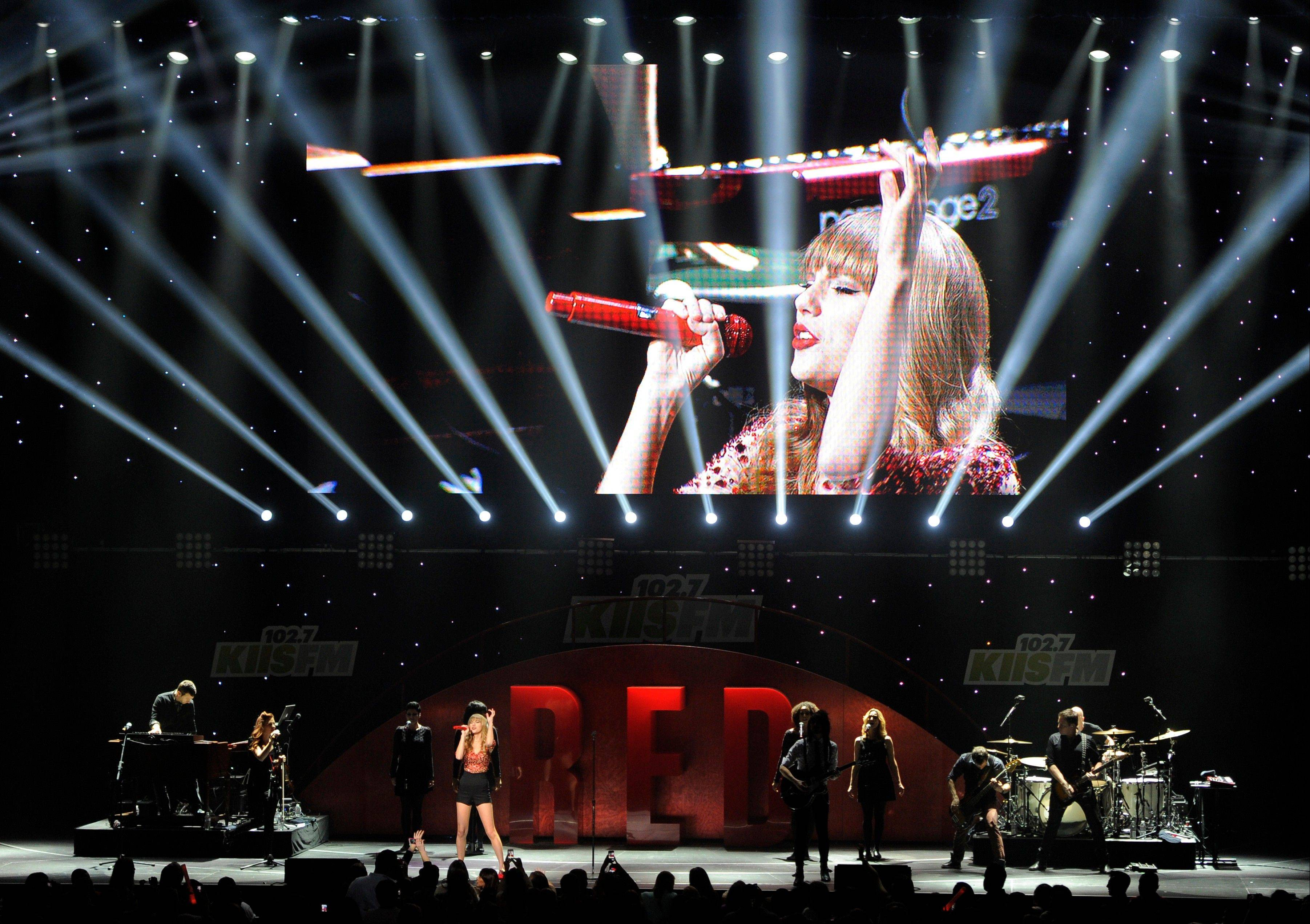 Taylor Swift is one of many artists performing at the Grammy Nominations Concert airing Wednesday night.