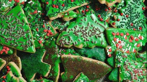 Cookies, like these festive sugar cookies, will be available at the 30th annual Cookie Walk at the Unitarian Universalist Society of Geneva.