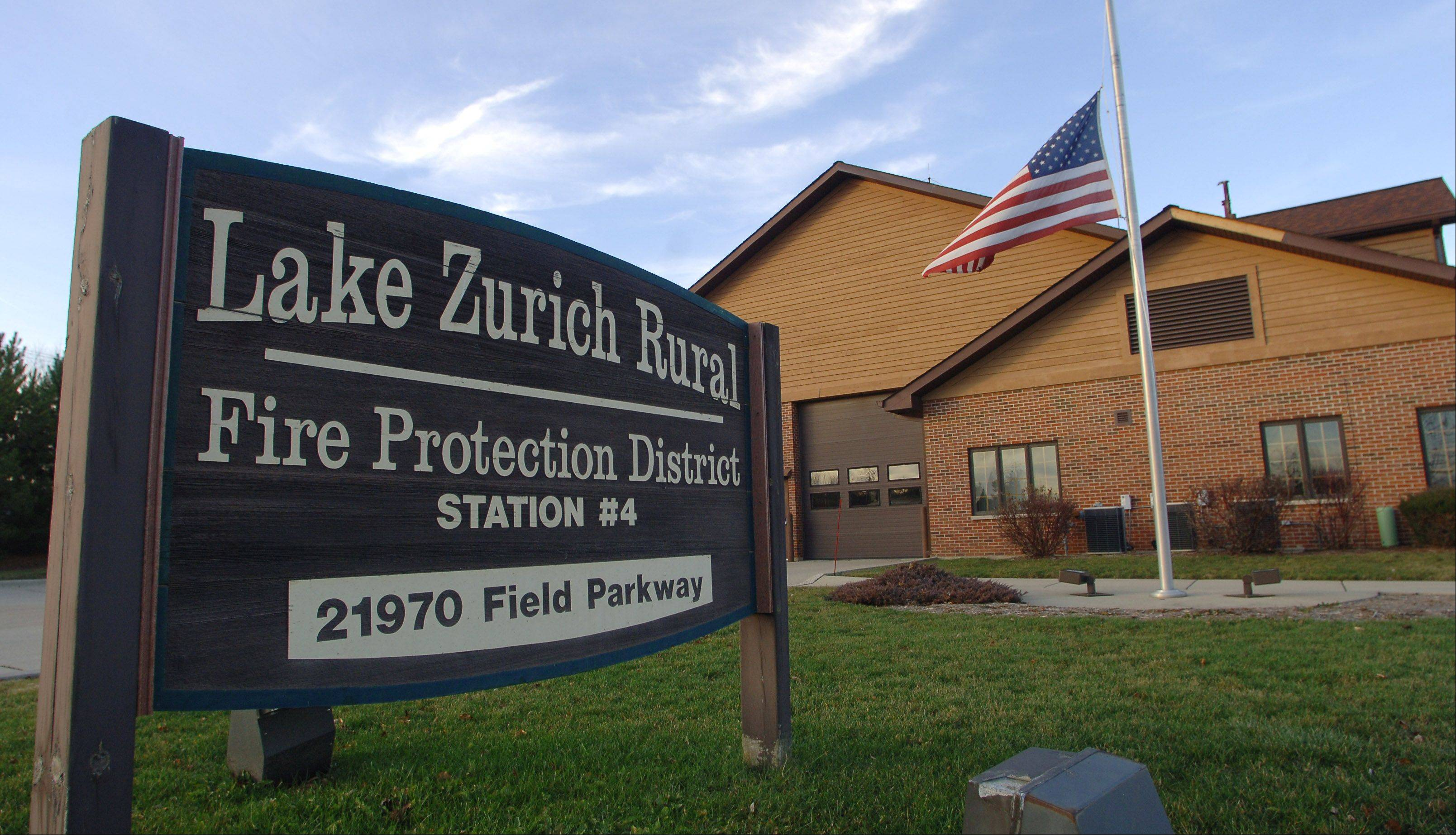 Lake Zurich officials Wednesday night discussed preliminary plans to close two firehouses and replace them with a new station to provide the affected area with the same coverage at less cost. One is the No. 4 station on Field Parkway in Deer Park owned by the Lake Zurich Rural Fire Protection District.
