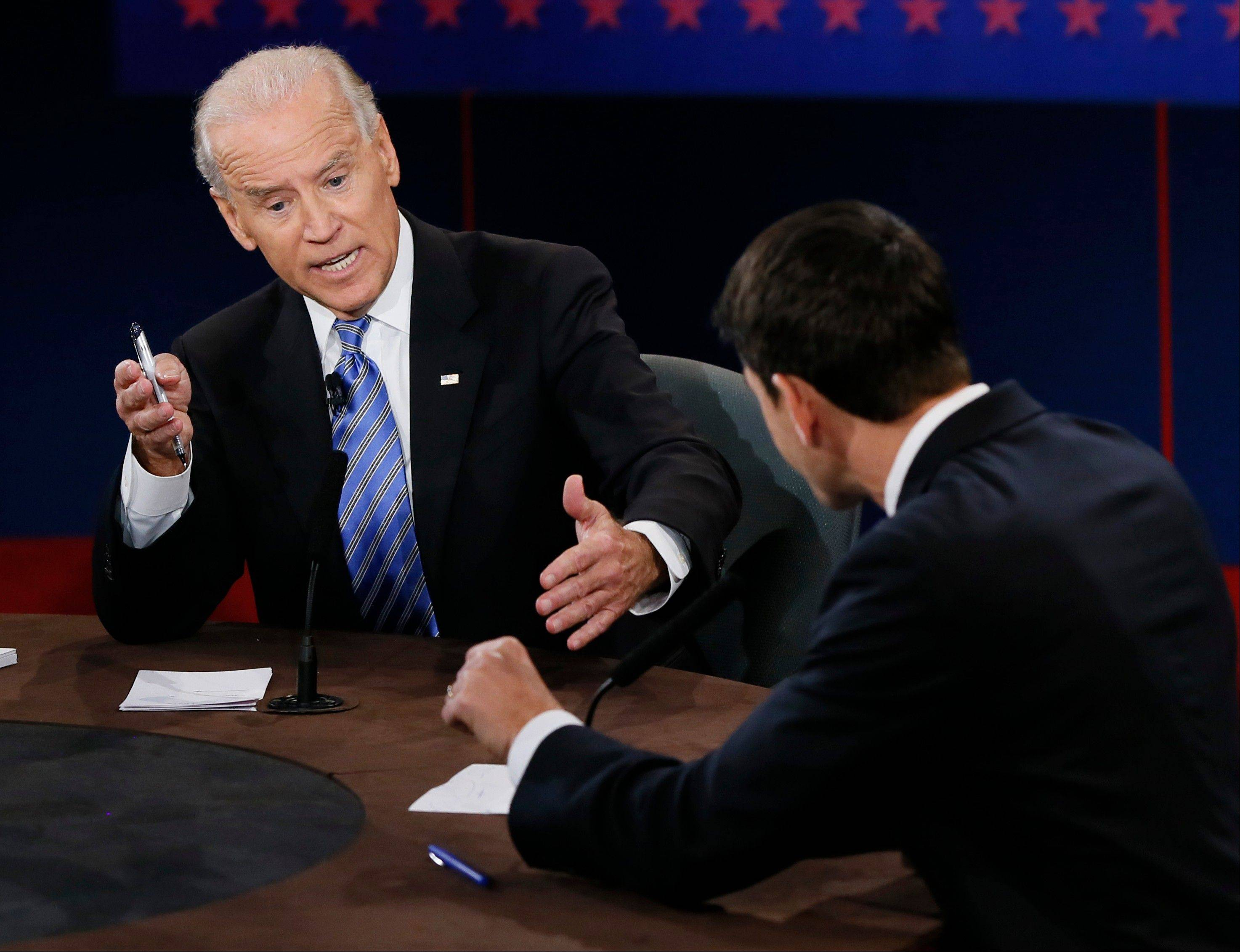 Vice President Joe Biden, left, and Republican vice presidential nominee Rep. Paul Ryan of Wisconsin debated Oct. 11, and Biden dismissed a statement by Ryan by saying, �With all due respect, that�s a bunch of Malarkey.� Thatn sent look-ups of malarkey soaring on Merriam-webster.com.