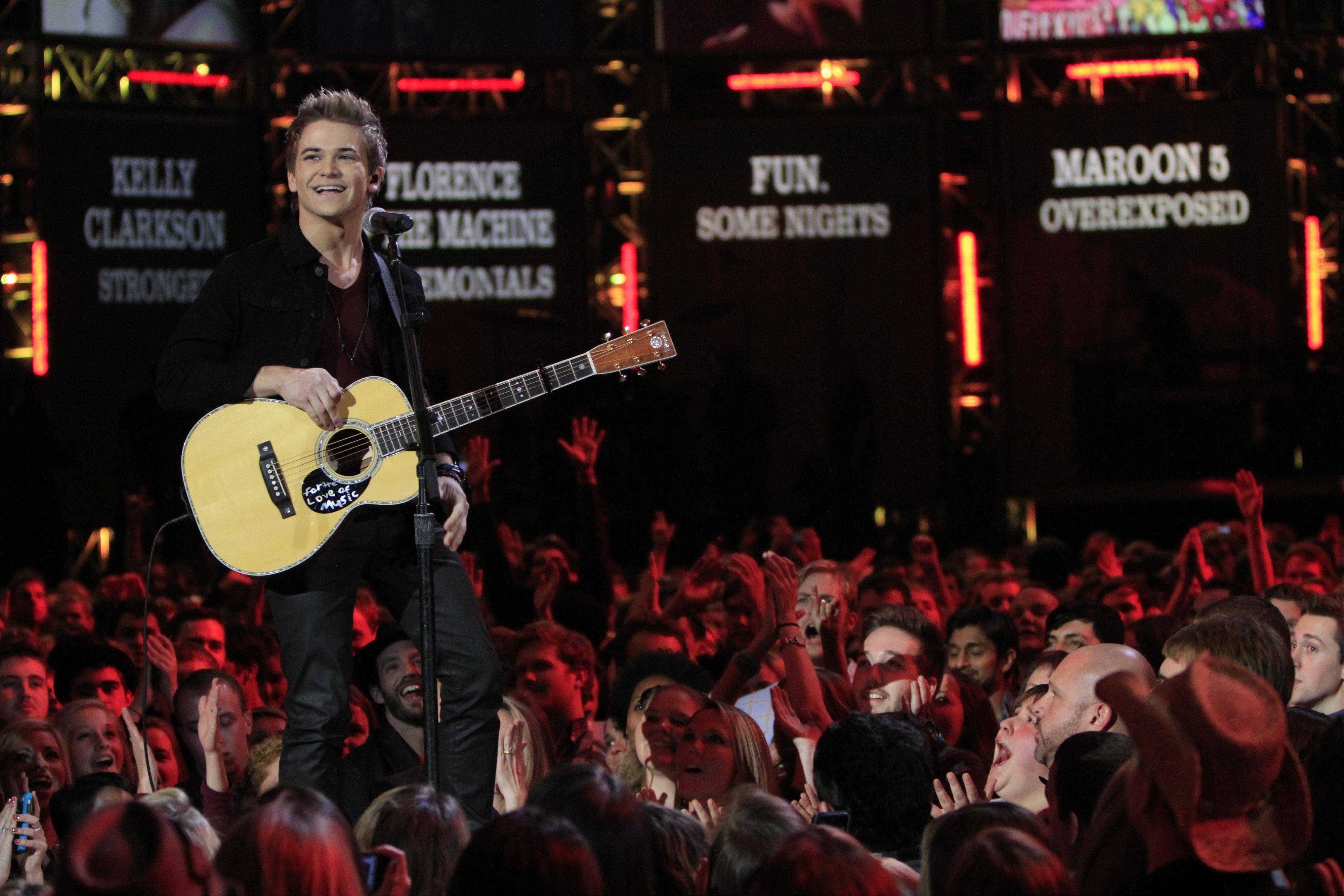 Hunter Hayes performs at the Grammy Nominations Concert Live! Wednesday night at Bridgestone Arena in Nashville, Tenn.