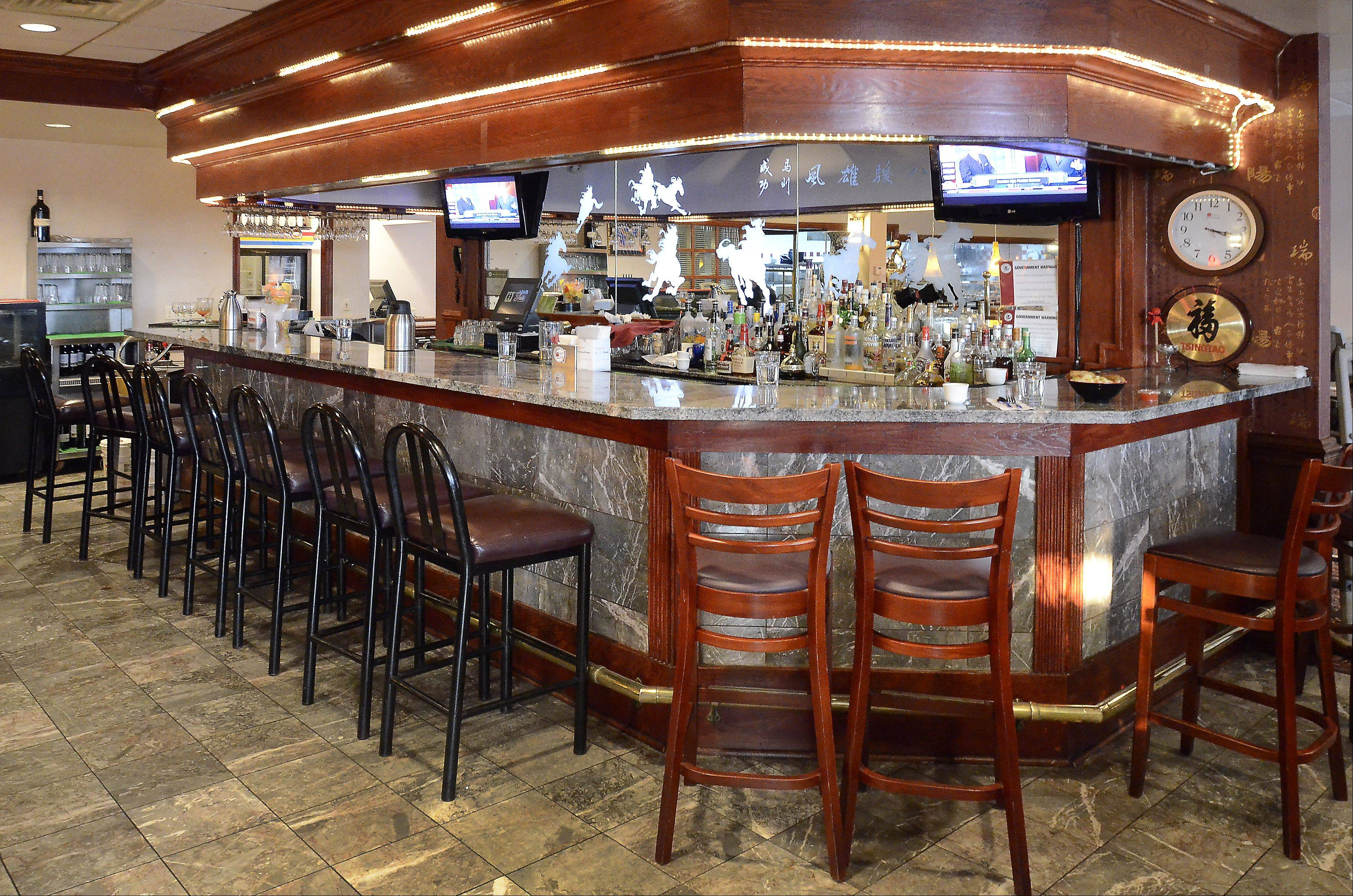 Stop for a drink at the bar before dinner at Yu's Mandarin in Schaumburg.
