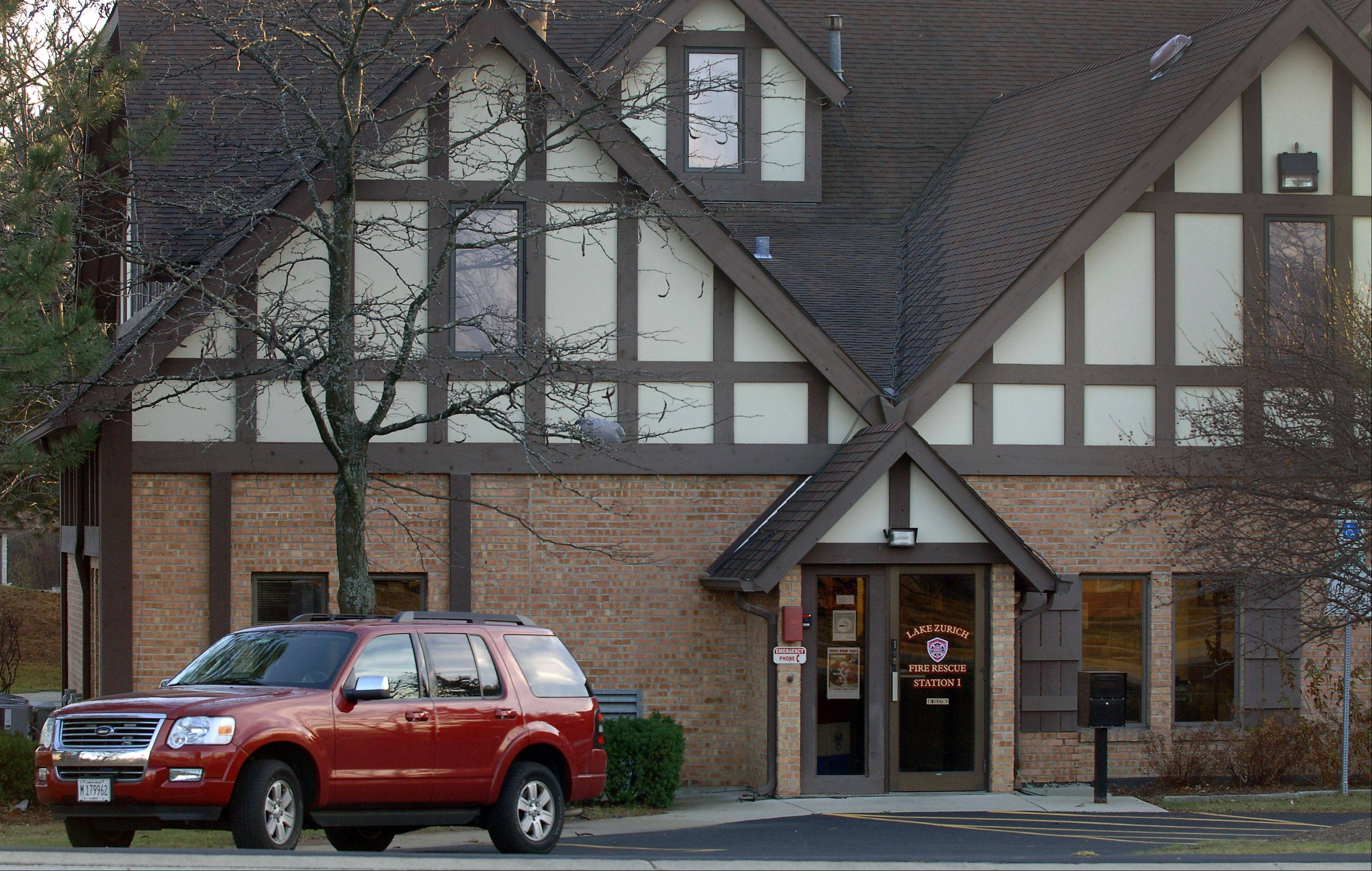 Lake Zurich fire station No. 1 on Buesching Road is one of the firehouses that could be closed if operations are combined at a new facility.