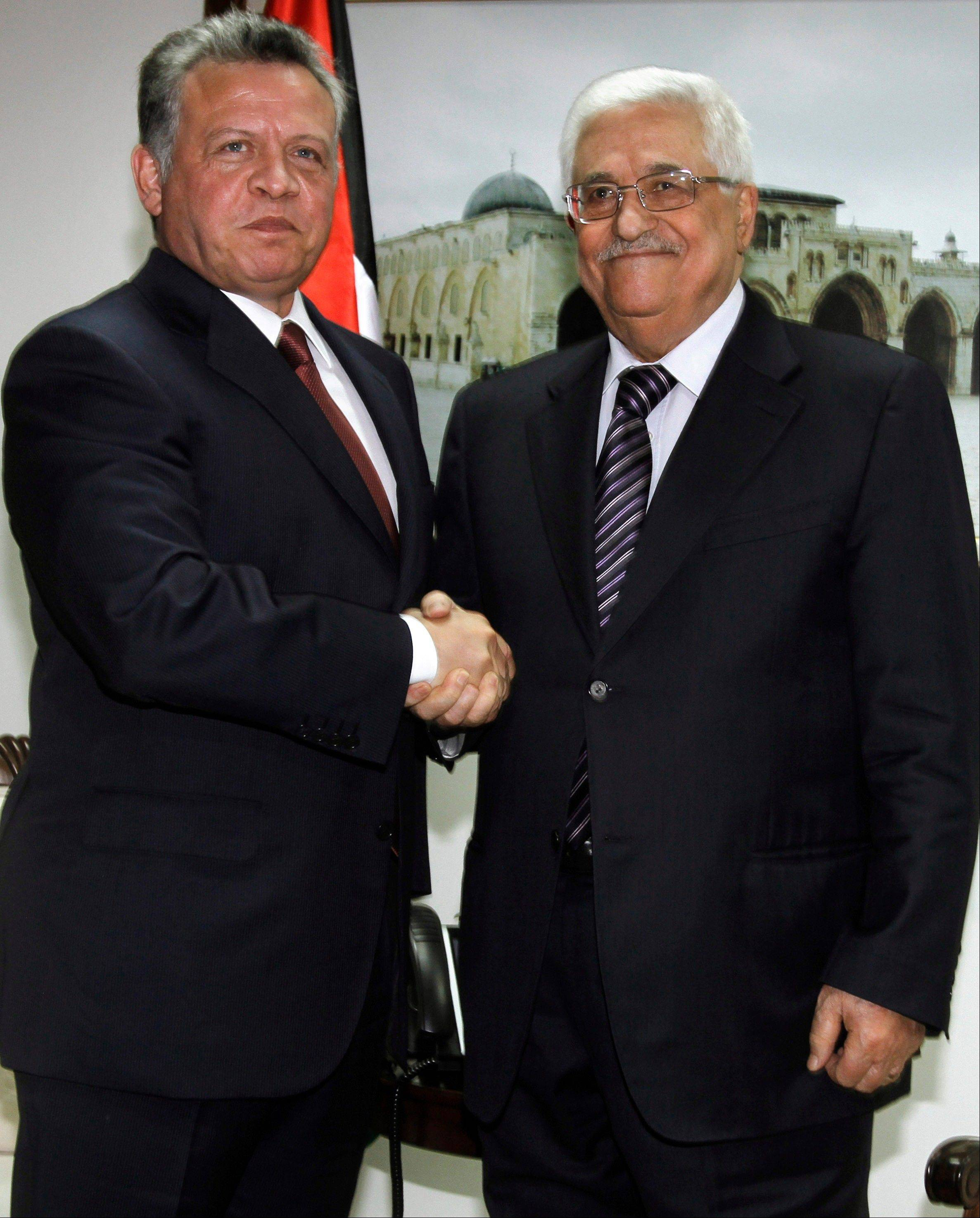 Jordan�s King Abdullah II has begun a brief visit to the West Bank in support of Palestinian President Mahmoud Abbas� successful bid for U.N. recognition of a state of Palestine.