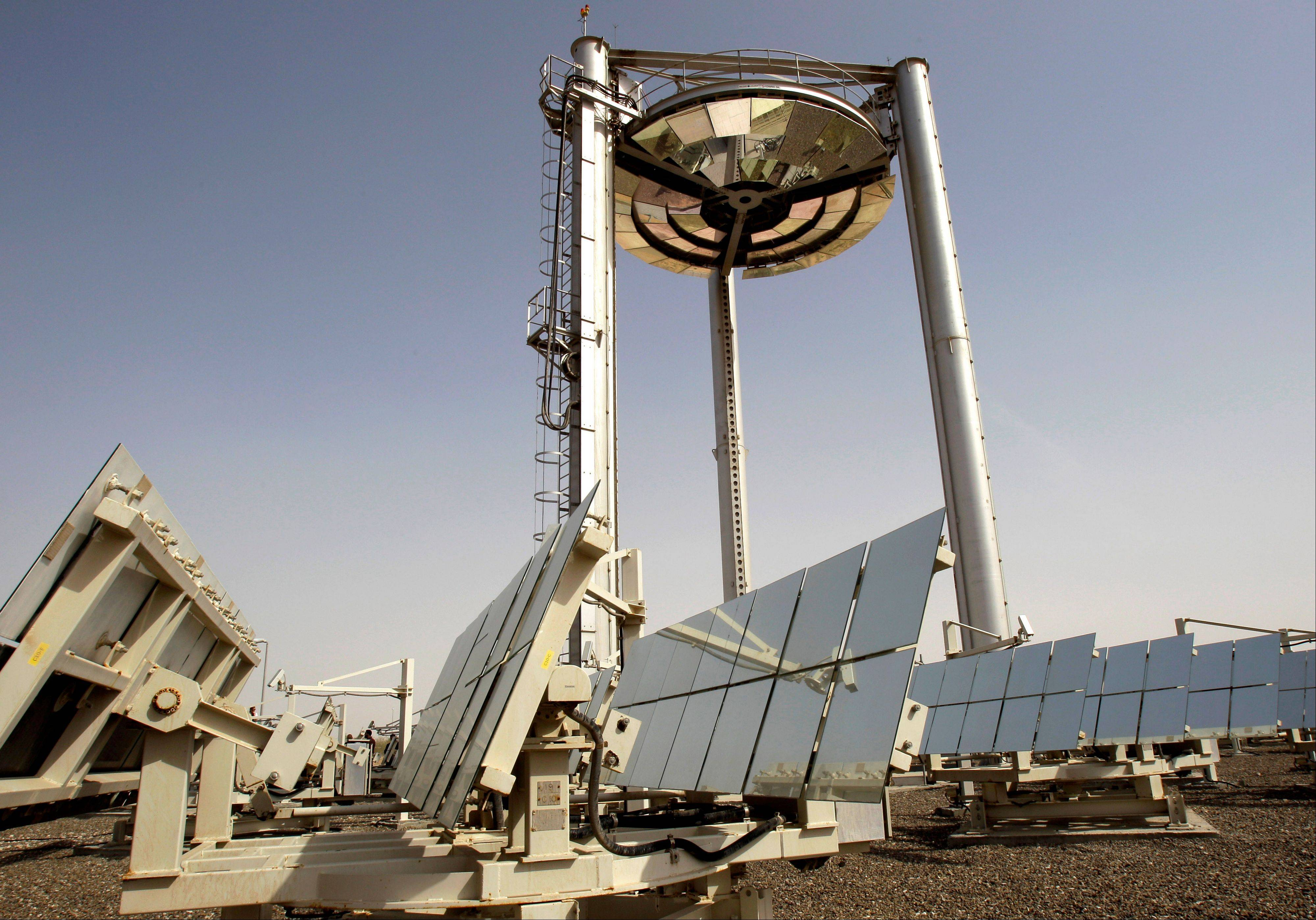 An experimental solar power installation was constructed in Masdar City in Abu Dhabi, United Arab Emirates.