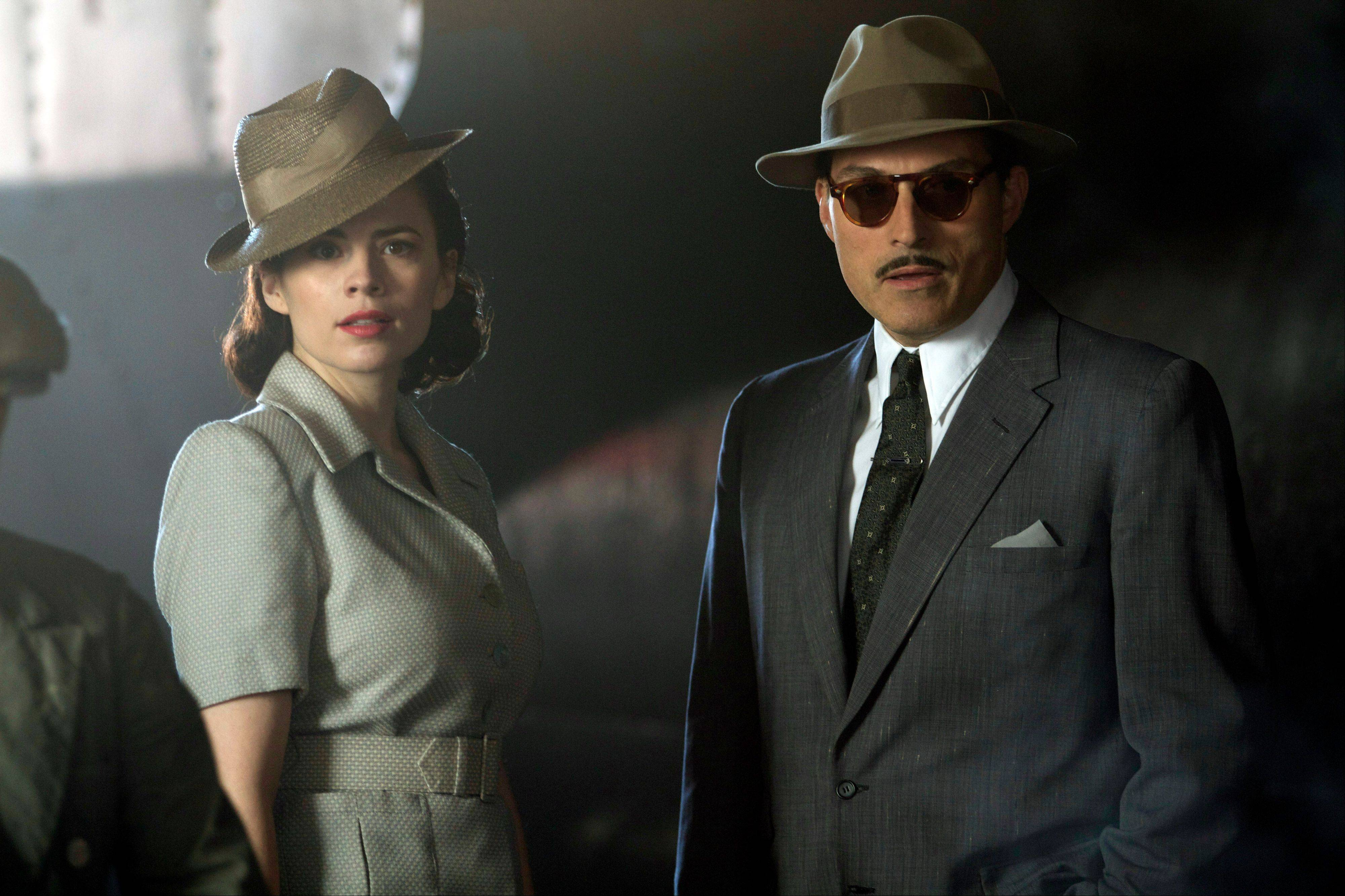 "Hayley Atwell, left, and Rufus Sewell in the Sundance Channel original miniseries ""Restless."""