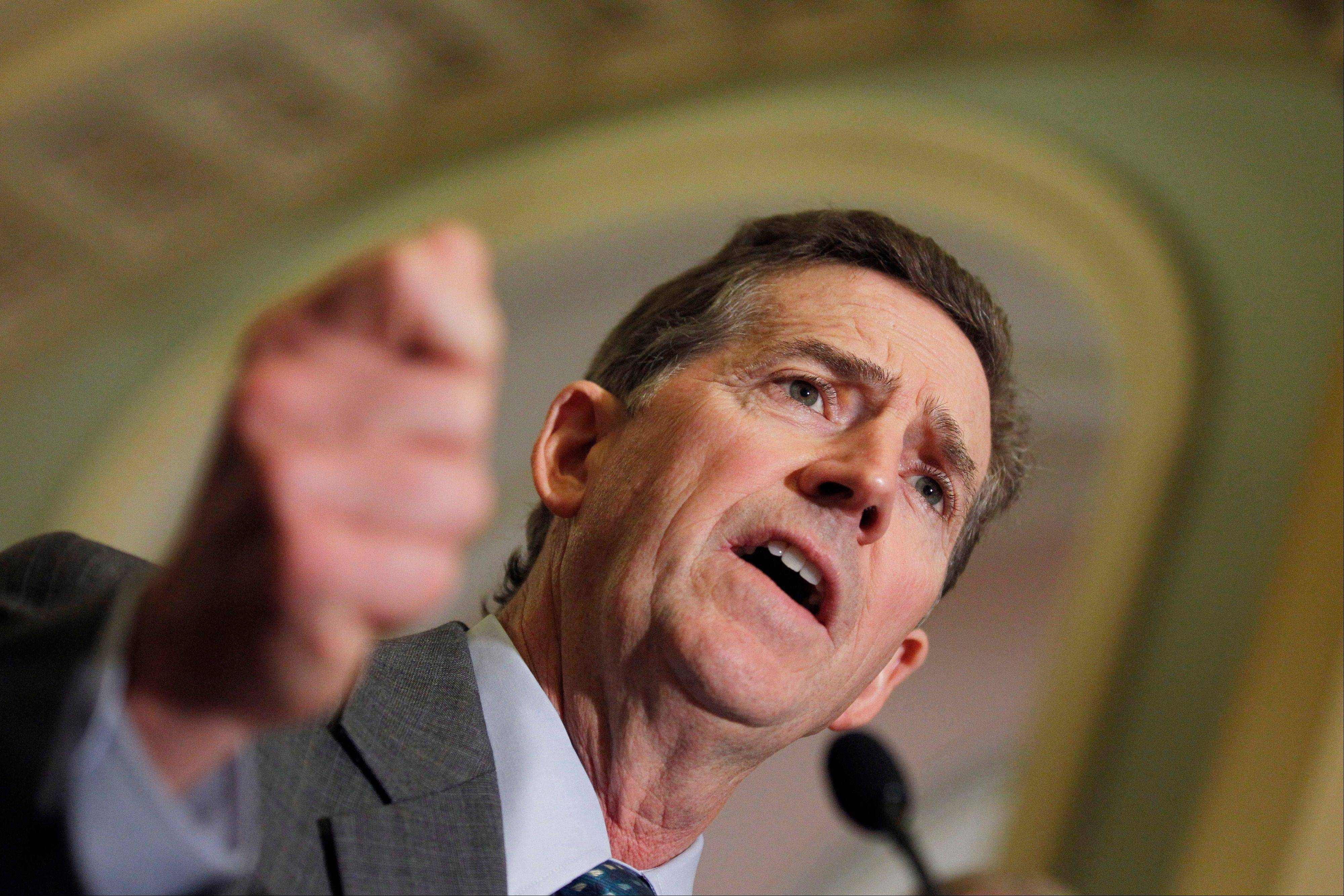 Sen. Jim DeMint, a South Carolina Republican, announced Thursday he is resigning to take over at Heritage Foundation.