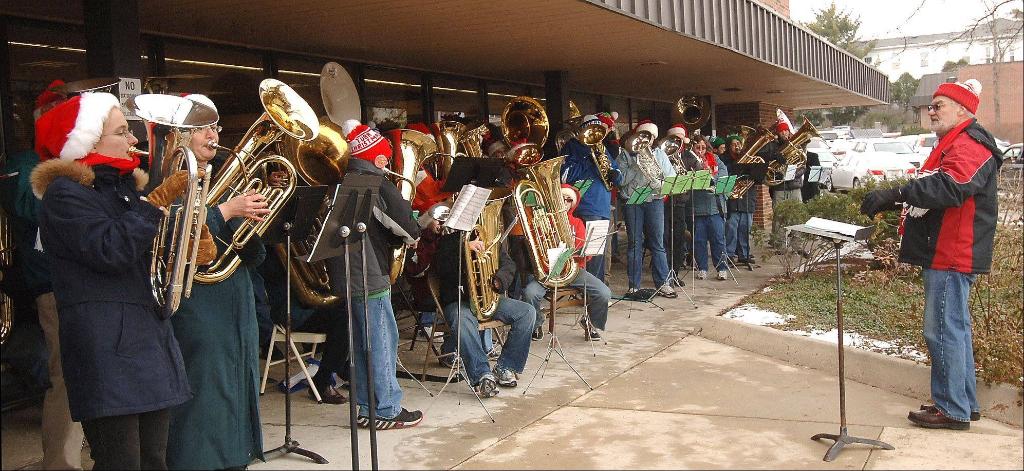 "The highlight of the Christmas Tuba concerts, Director Ron Keller says, is a rousing rendition of ""Jingle Bells"" that veers off into the ""National Emblem March"" and then back again."