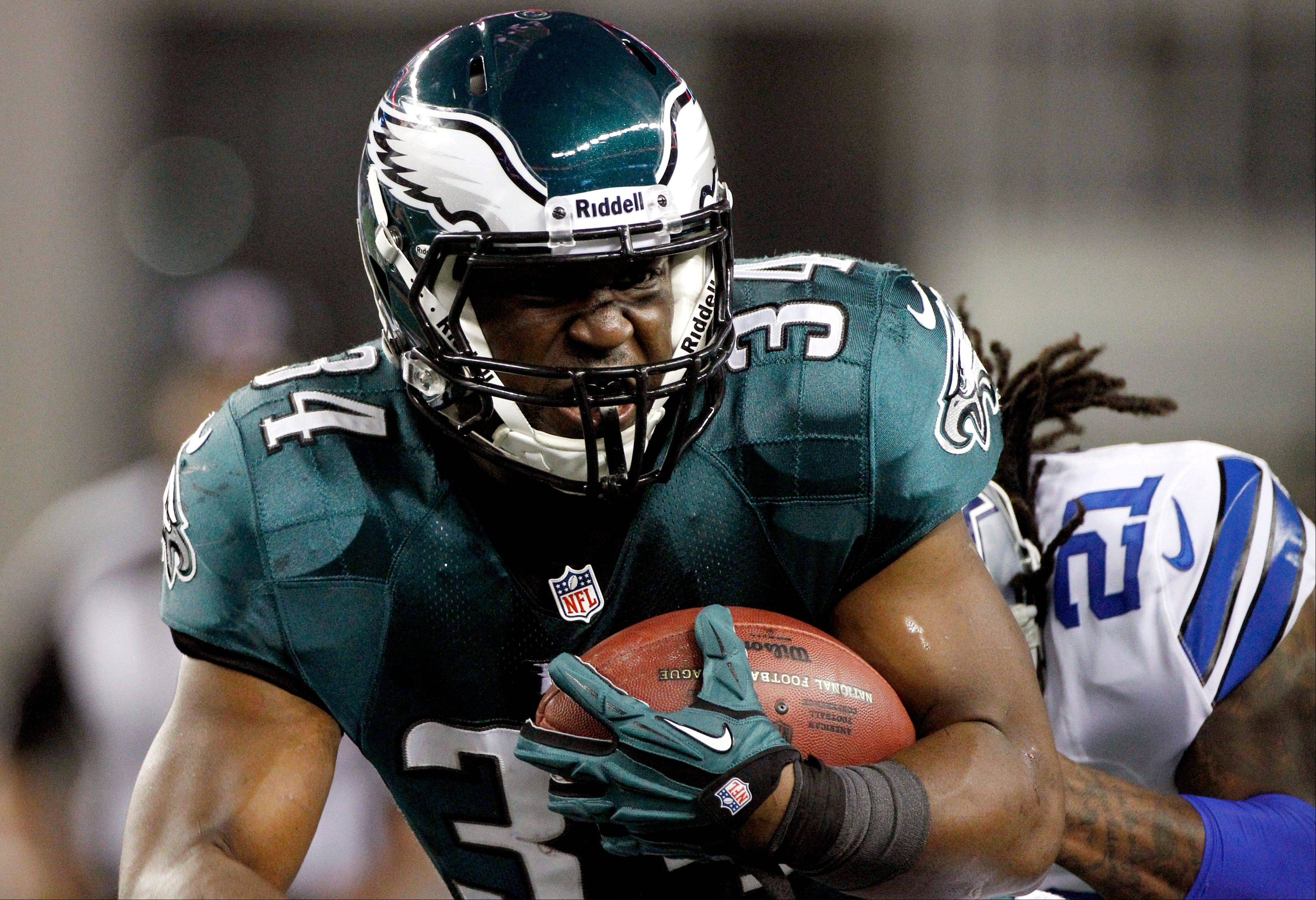 Philadelphia Eagles running back Bryce Brown has been impressive the last two weeks with 4 touchdowns and averaging 8.1 yards per carry. He also has lost three fumbles, however, which could affect his playing time.