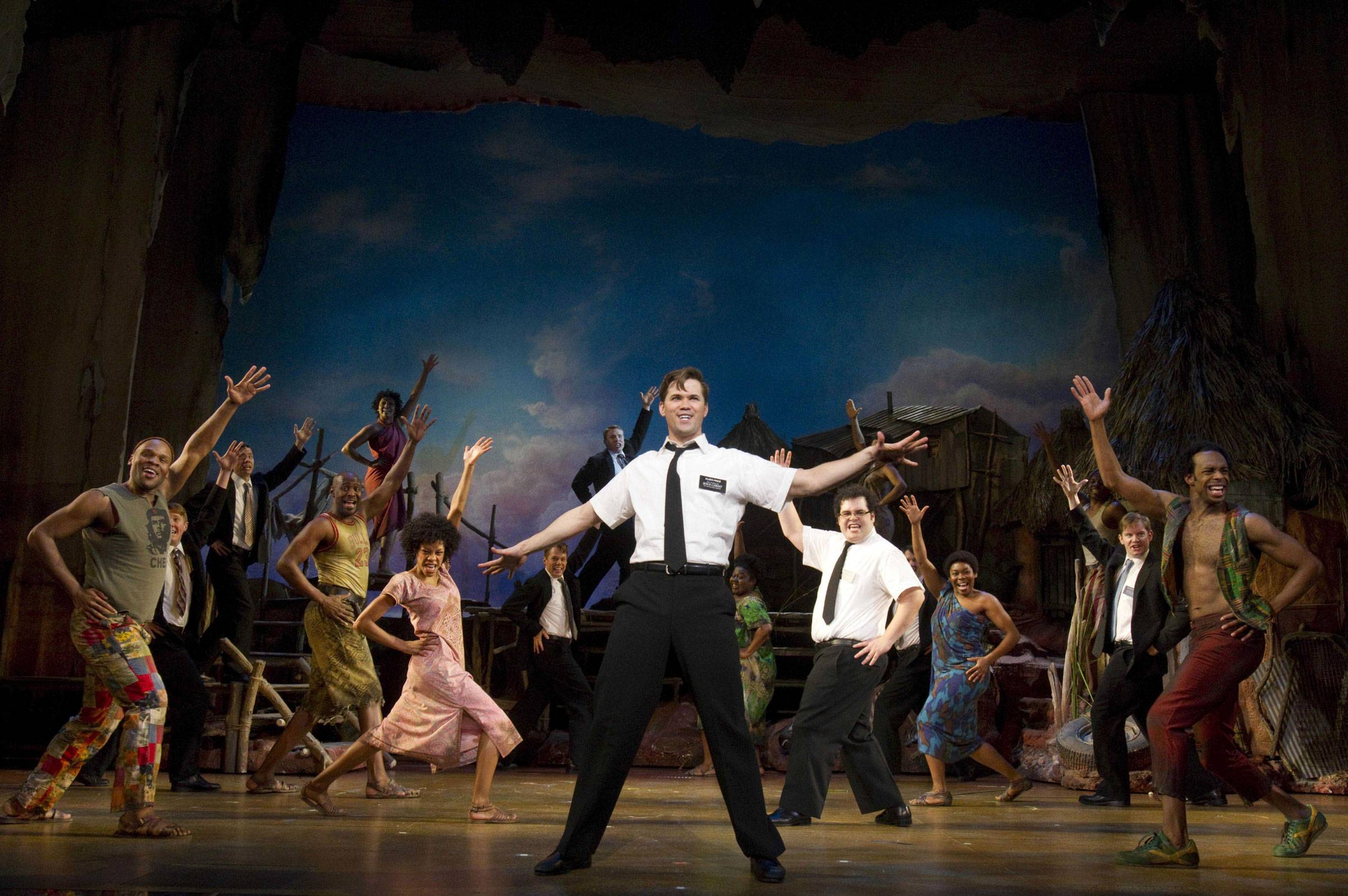 "Andrew Rannells played Elder Price, center, with the original 2011 Broadway company of ""The Book of Mormon."" The smash-hit Broadway musical by the creators of ""South Park"" and a composer of ""Avenue Q"" is set to play a six-month engagement at Chicago's Bank of America Theatre."