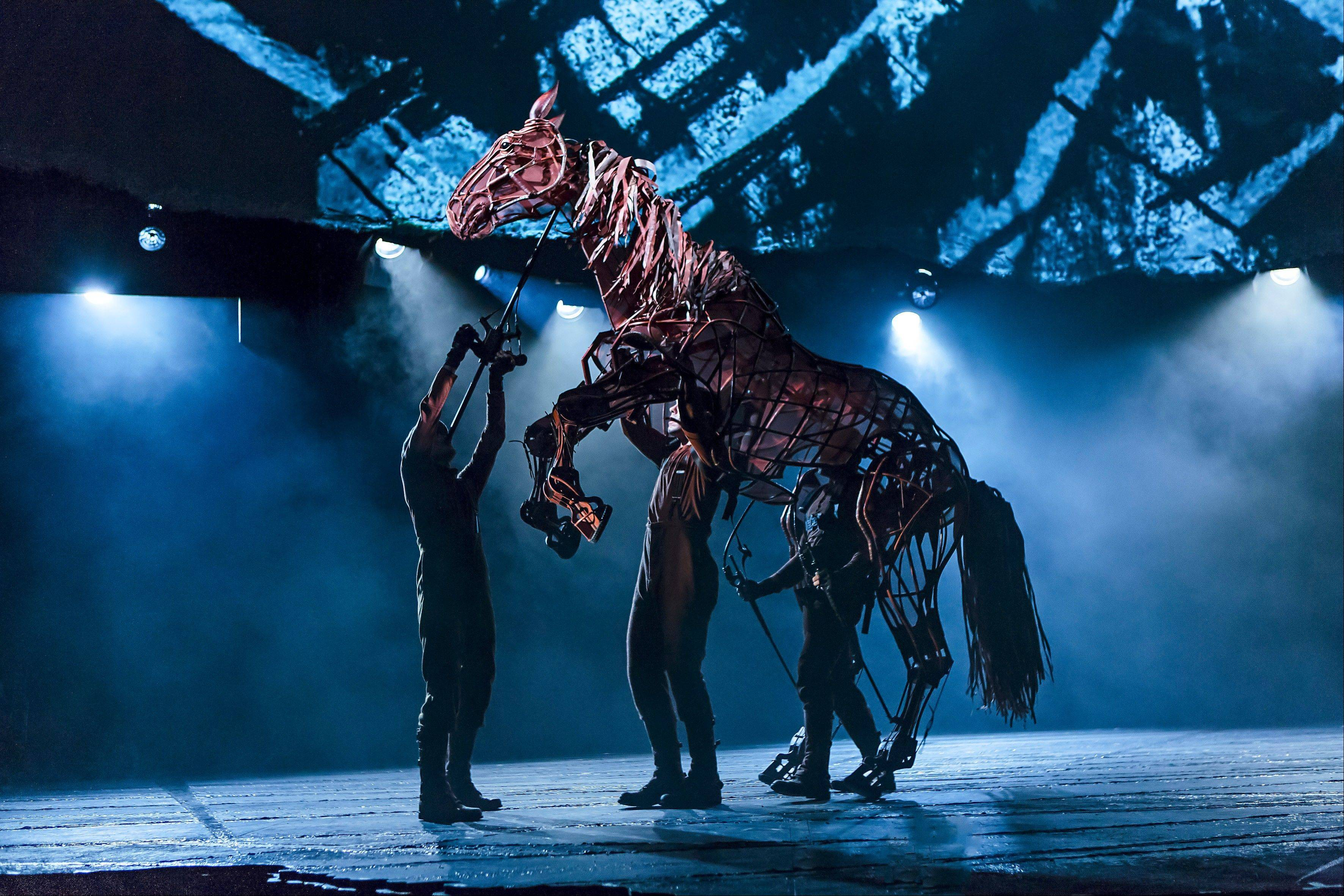 "In the North American tour of ""War Horse,"" Christopher Mai, Derek Stratton and Rob Laqui rotate in the role of the horse Joey. ""War Horse"" plays Chicago's Cadillac Palace Theatre from Tuesday, Dec. 18, through Saturday, Jan. 5."