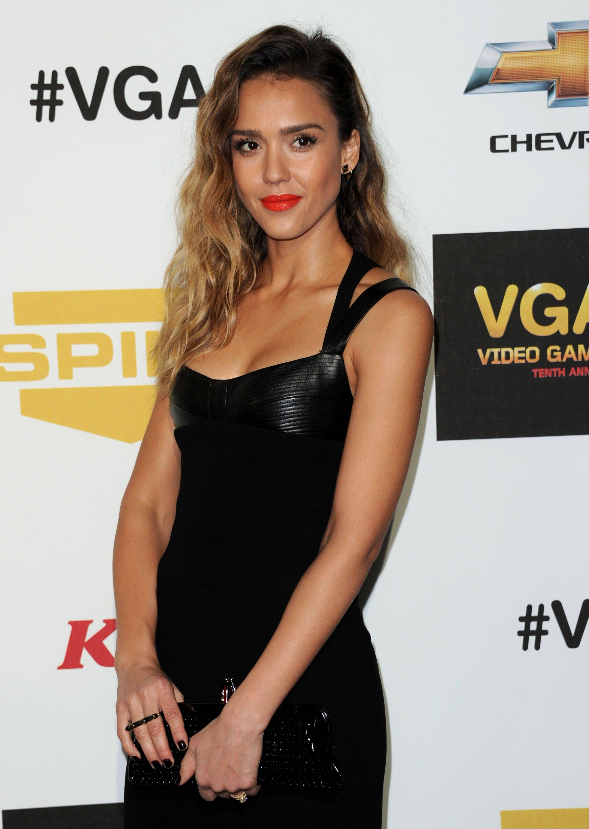 Jessica Alba arrives Friday at Spike's 10th Annual Video Game Awards at Sony Studios.
