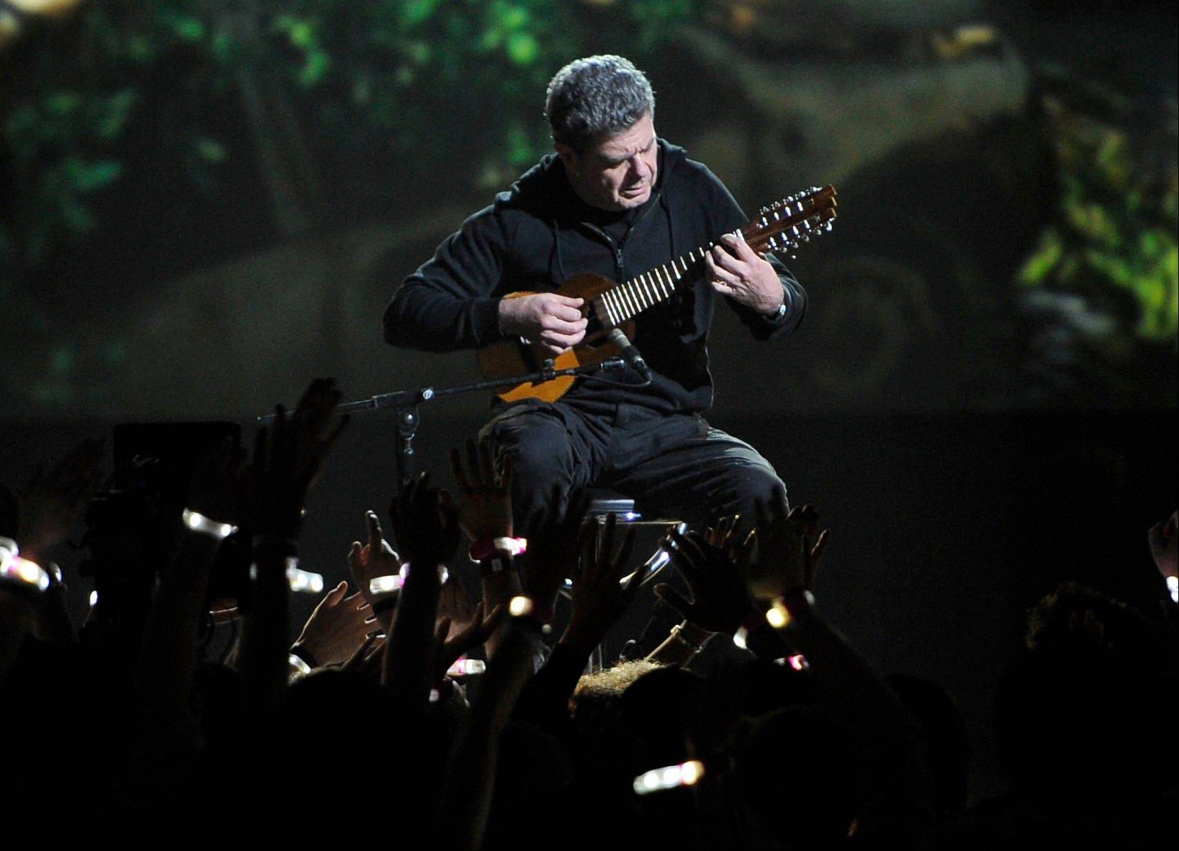 "Gustavo Santaolalla performs the world premiere of ""The Last of Us"" Friday at Spike's 10th Annual Video Game Awards."