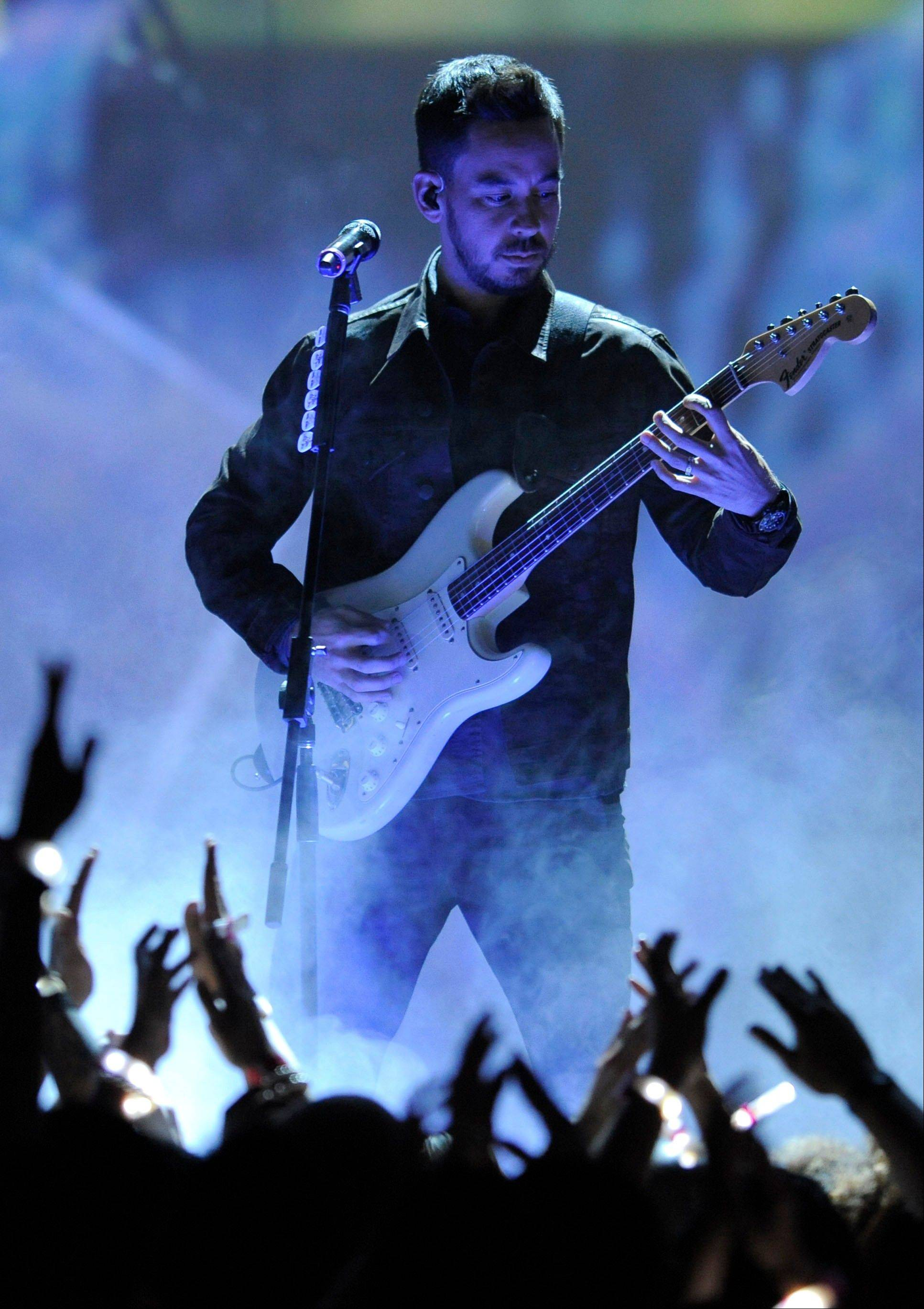Mike Shinoda, of musical group Linkin Park, performs Friday at Spike's 10th Annual Video Game Awards.