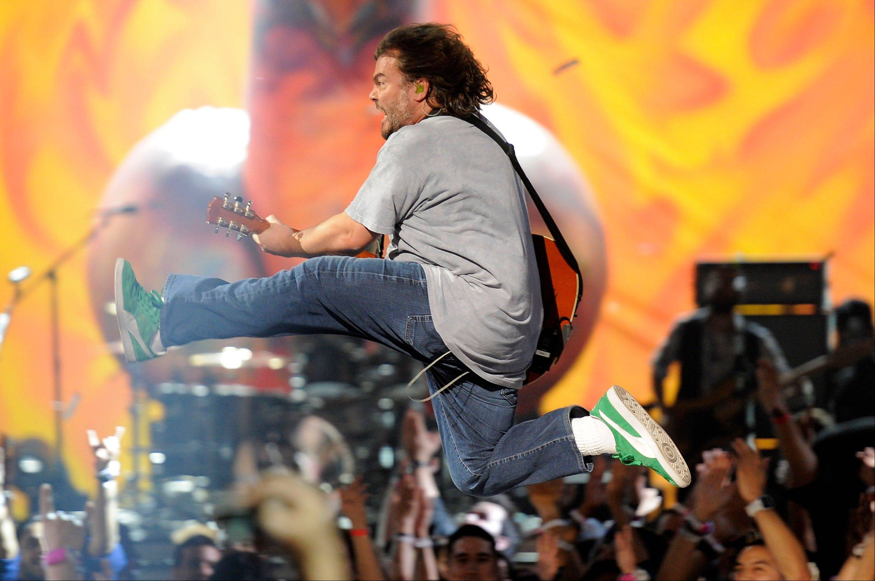Tenacious D's Jack Black performs Friday at Spike's 10th Annual Video Game Awards.