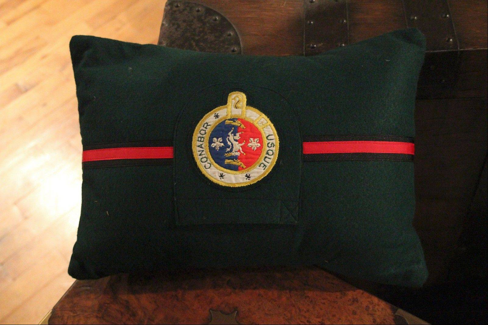 Fanshawe Blaine's vintage school-blazer-pocket pillow.