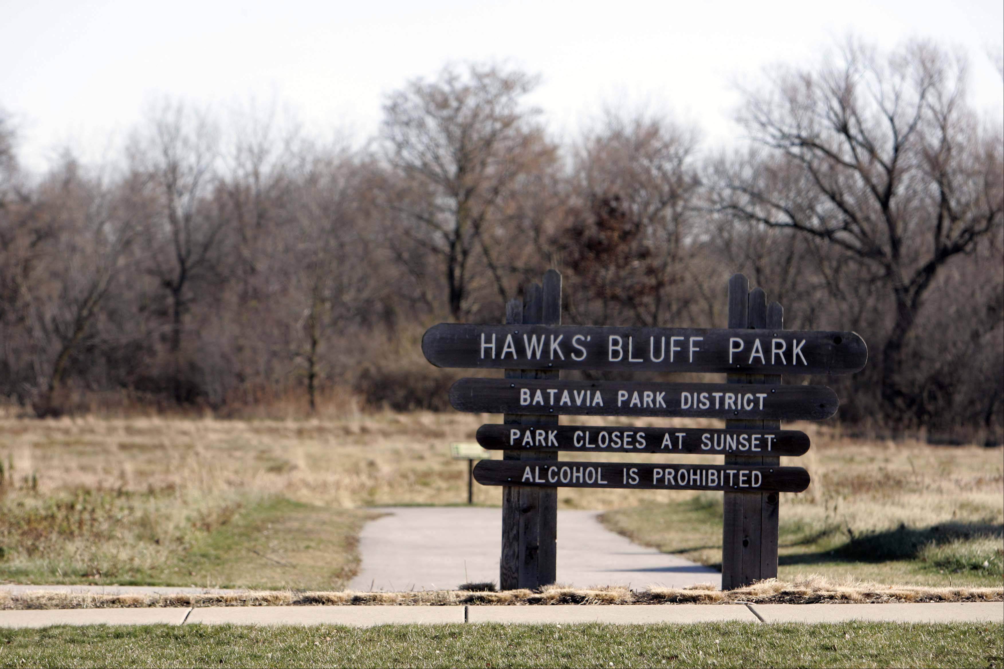 Hawk's Bluff Park is one of several parks in the Tanglewood Hills area in Batavia.