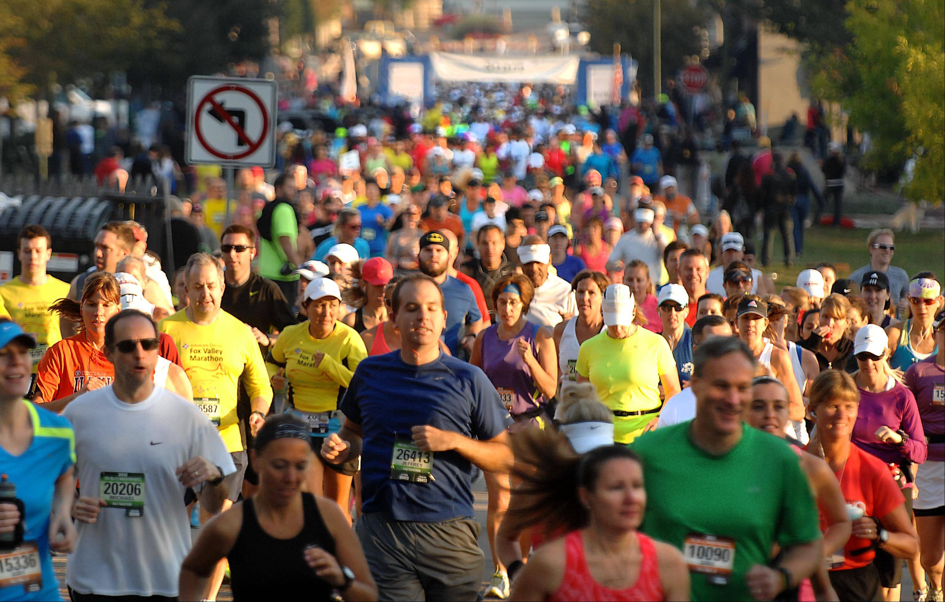 As many as 7,500 runners participated in last year's Fox Valley Marathon. Organizer Bob Hackett said Naperville's first marathon, to be held next November, will be capped at 4,000 runners.