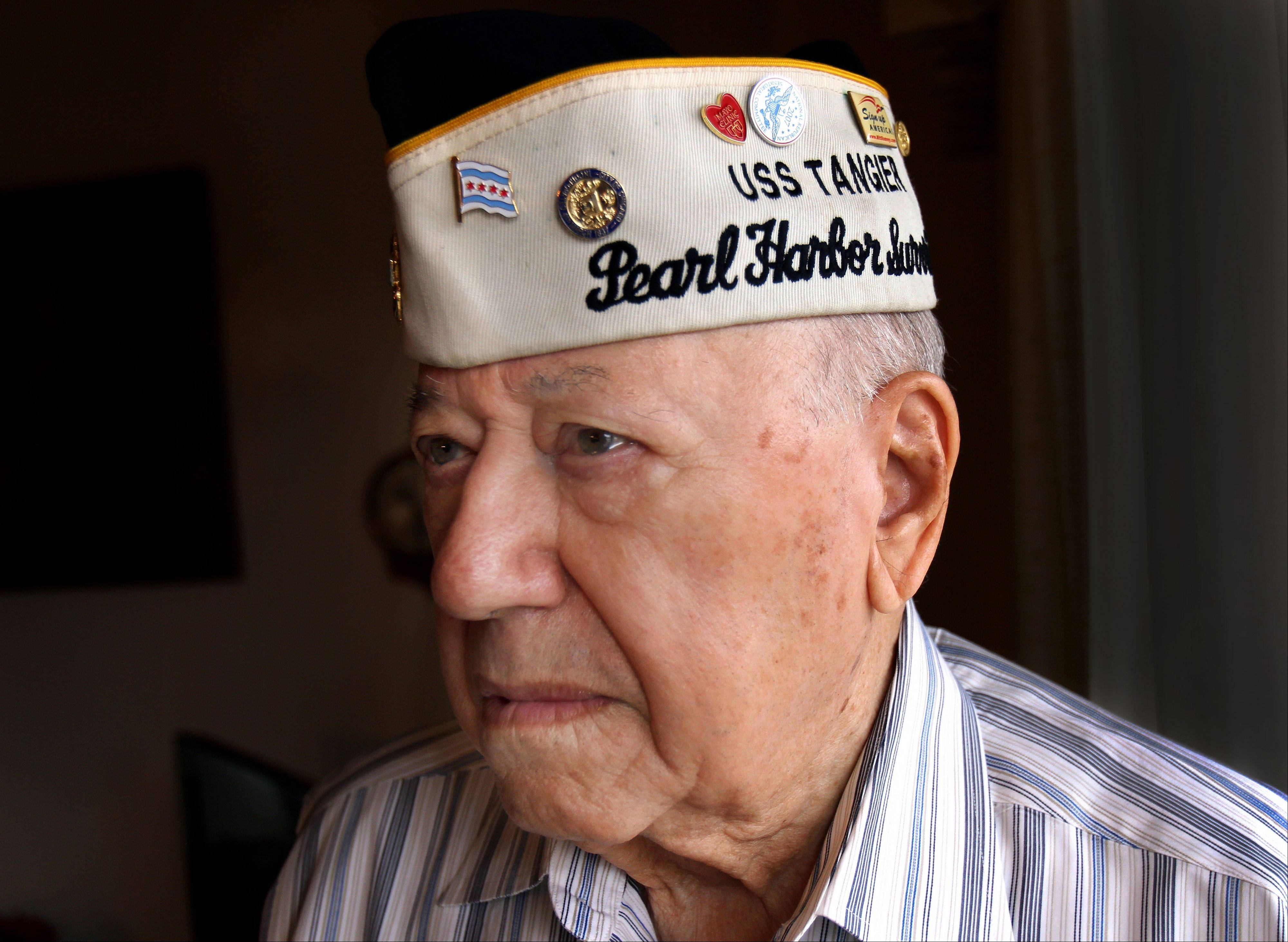92-year-old Joe Triolo of Waukegan is one of the few remaining survivors of the Pearl Harbor attack. Triolo will be on hand today at a Des Plaines event commemorating the 71st anniversary of the attack.
