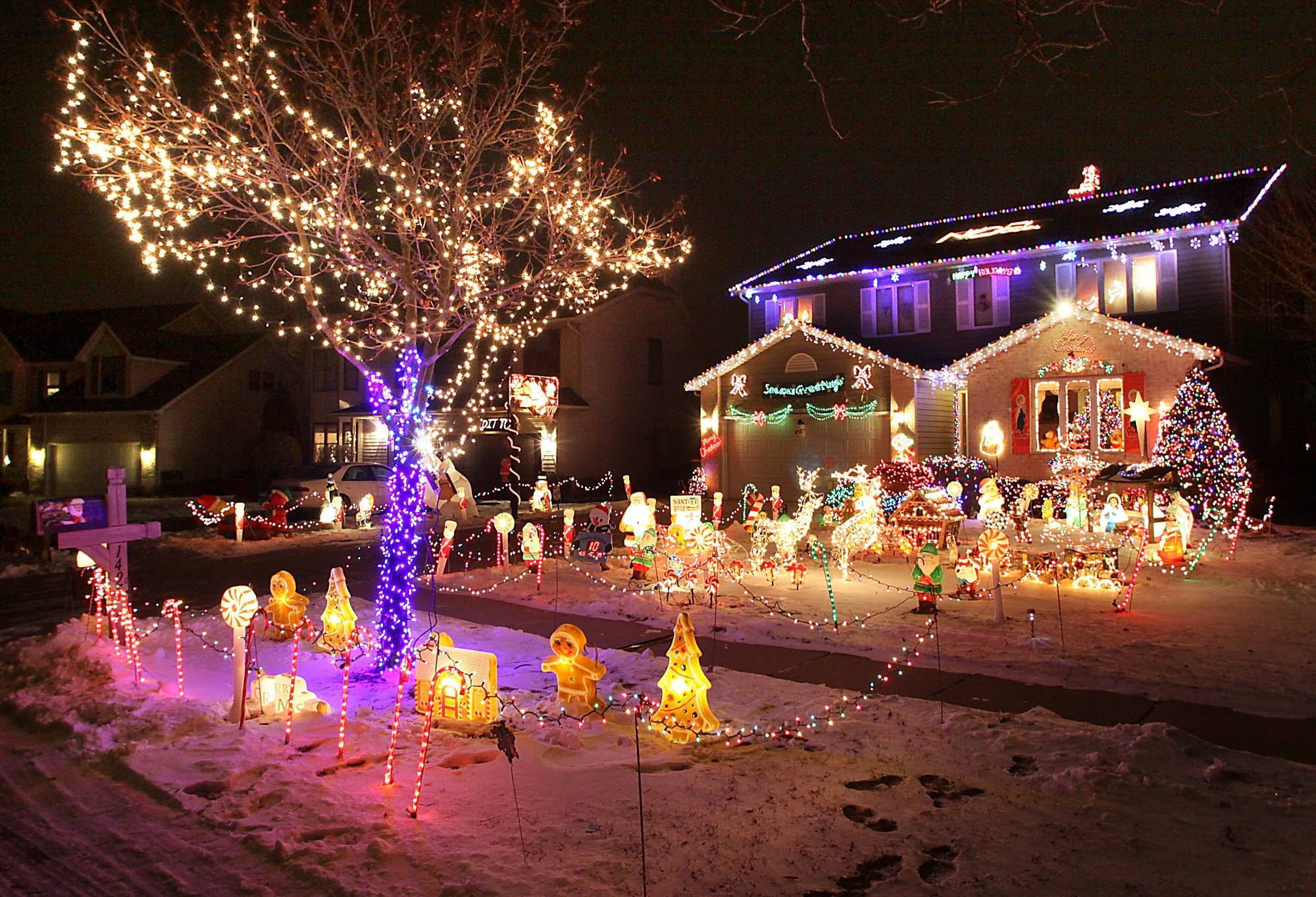 Bill and Jennifer Kyprianidis, of Elk Grove Village, were the winners of the 2010 Daily Herald holiday lights contest.