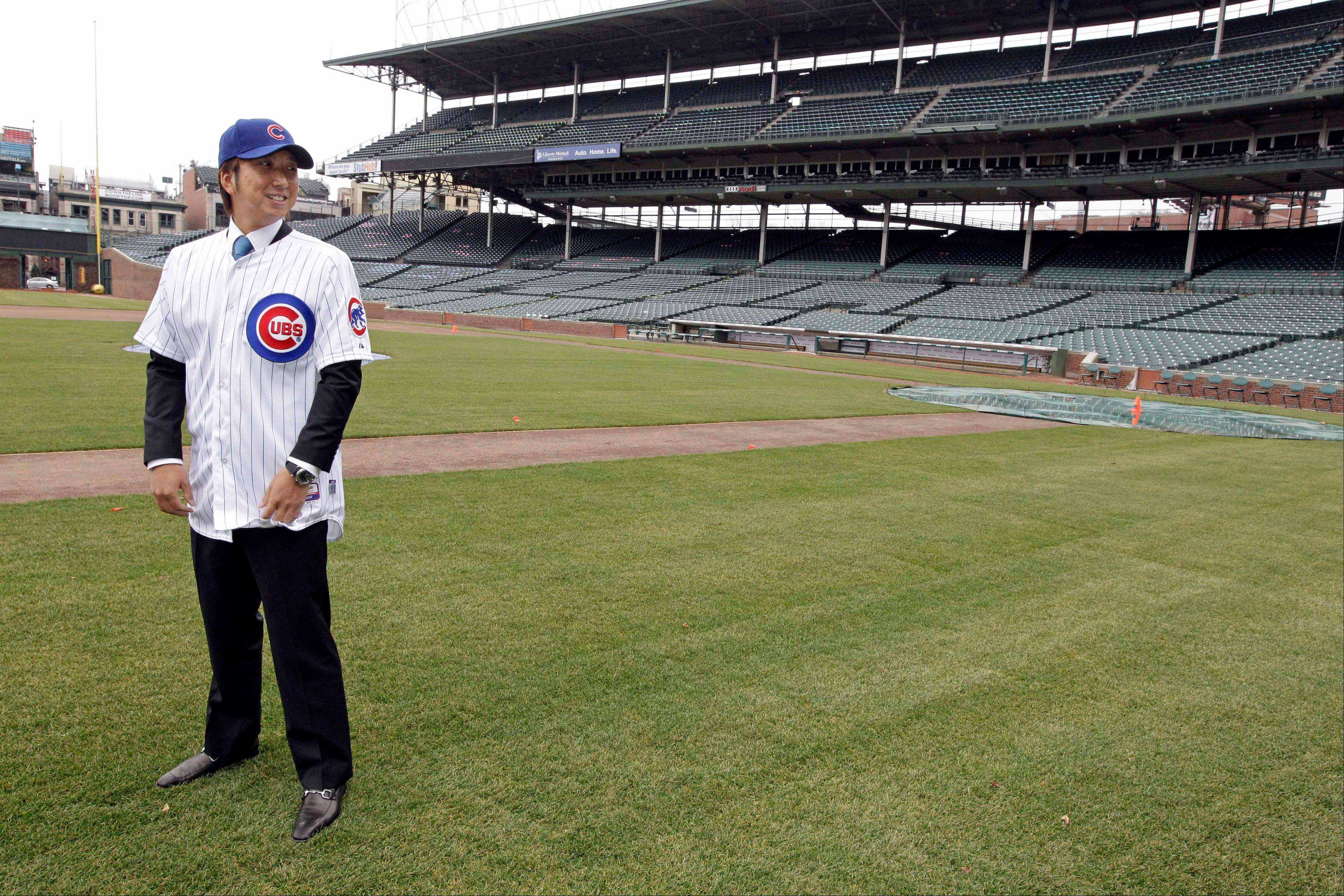 New pitcher Kyuji Fujikawa of Japan says it doesn't matter whether he's a closer or a setup man in the bullpen with the Cubs. He signed a two-year deal with the club and held a news conference in Chicago Friday.