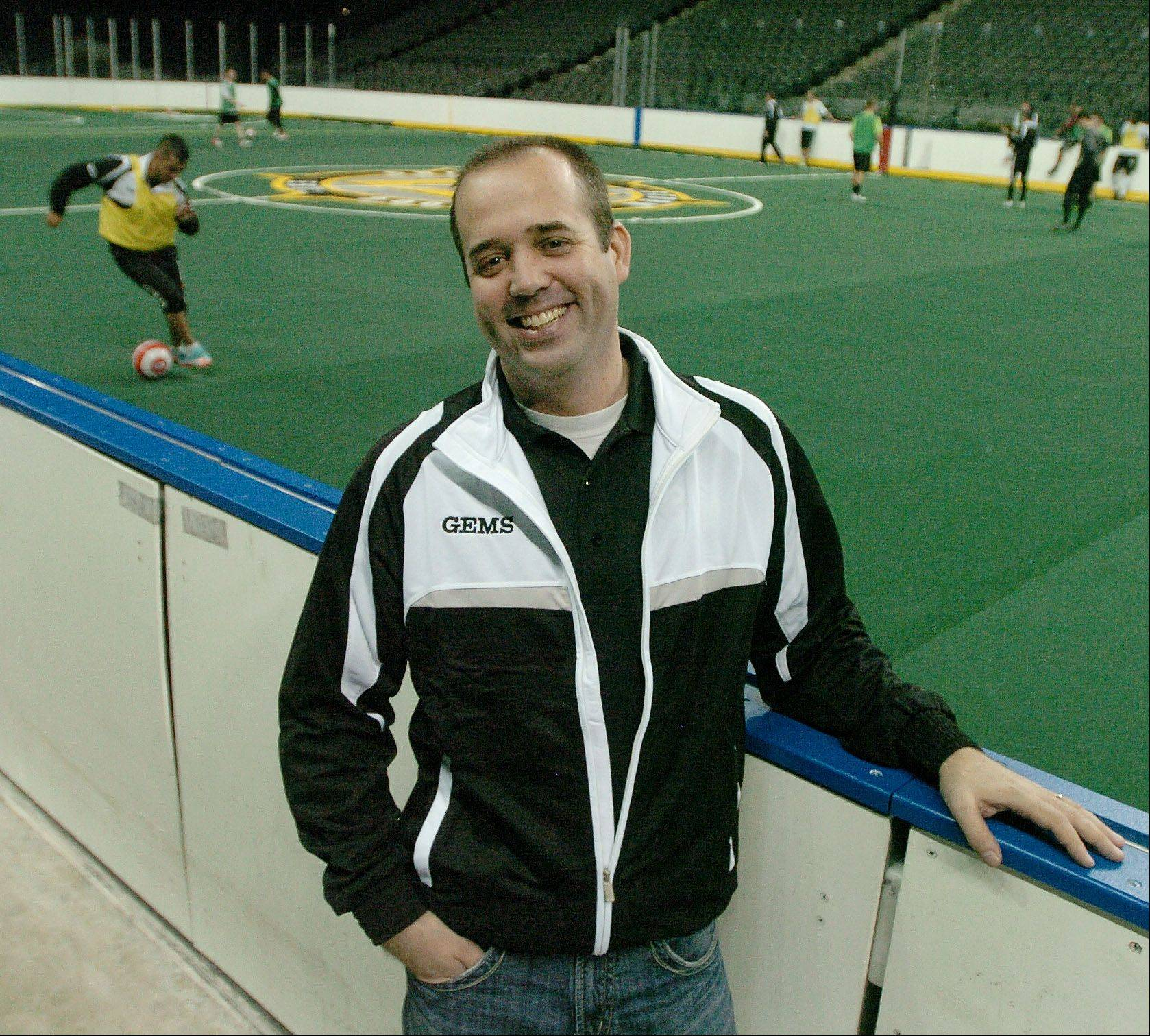 Dave Mokry is owner of the new Chicago Soul indoor soccer team.