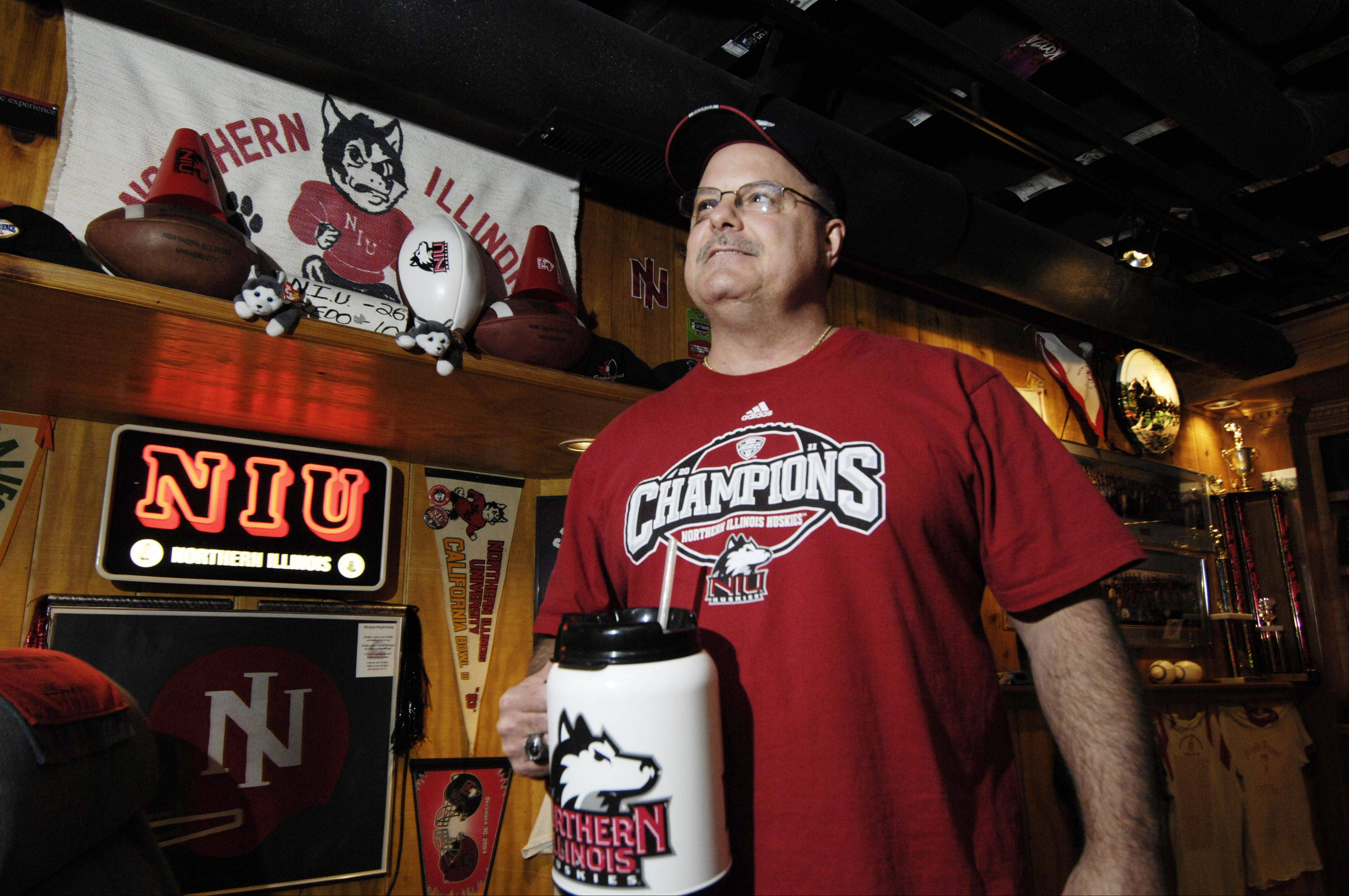 "Northern Illinois University ""Superfan"" Dave LaCerra of Mount Prospect, a player on the NIU team during the 1980s, wouldn't miss the Huskies' appearance in the Orange Bowl for the world."