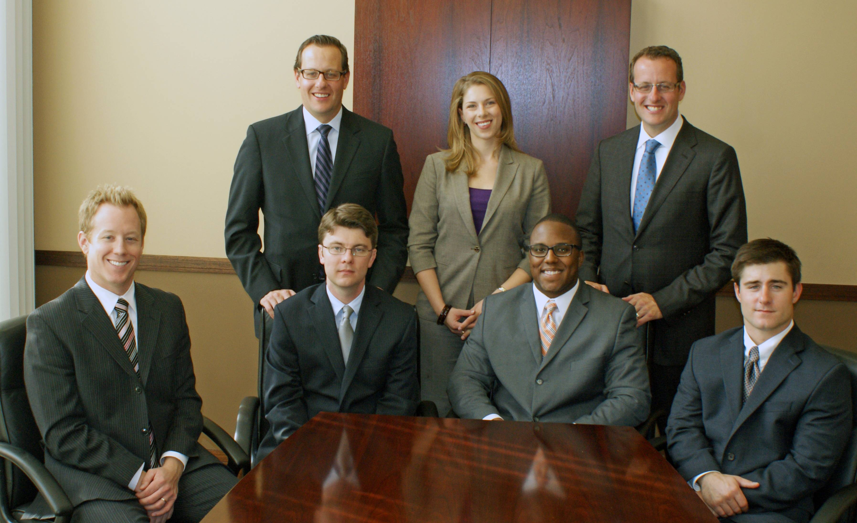 The Northwestern Mutual District Office in Oak Brook aims to add 14 financial representatives in 2013. Newly contracted financial representatives in the front row, from left to right:  Ron Huisman, Andrew Wilson, Nick Purchase & Patrick Brooke.  Back row:  The recruiting team of Chad McQuade, field director; Pauline Ozols, director of recruitment & selection; and Chad McQuade, managing director are actively recruiting for 2013.