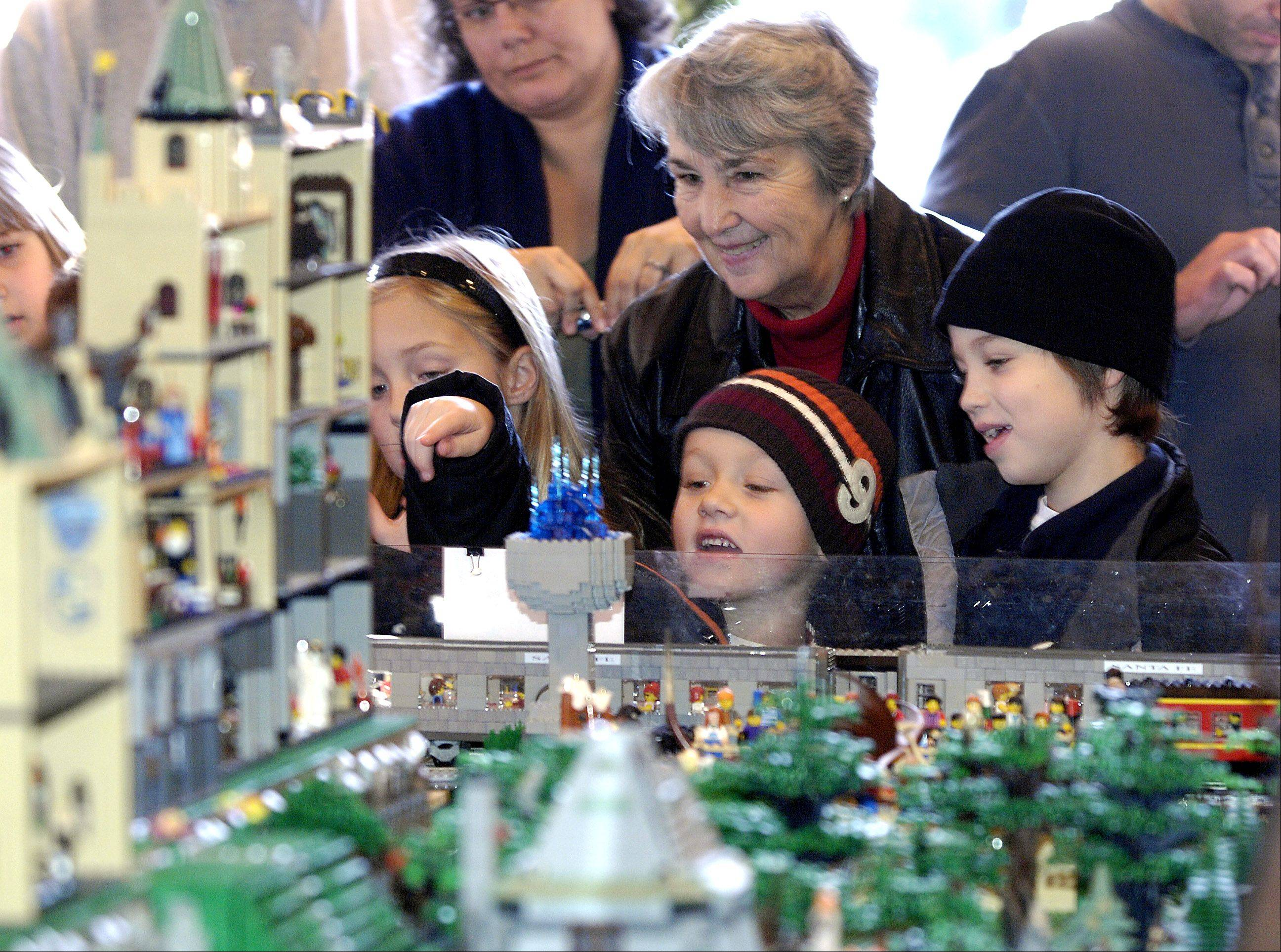 See colorful scenes, created with thousands of Lego bricks, at the annual Lego Holiday Train Show at Cantigny Park in Wheaton.