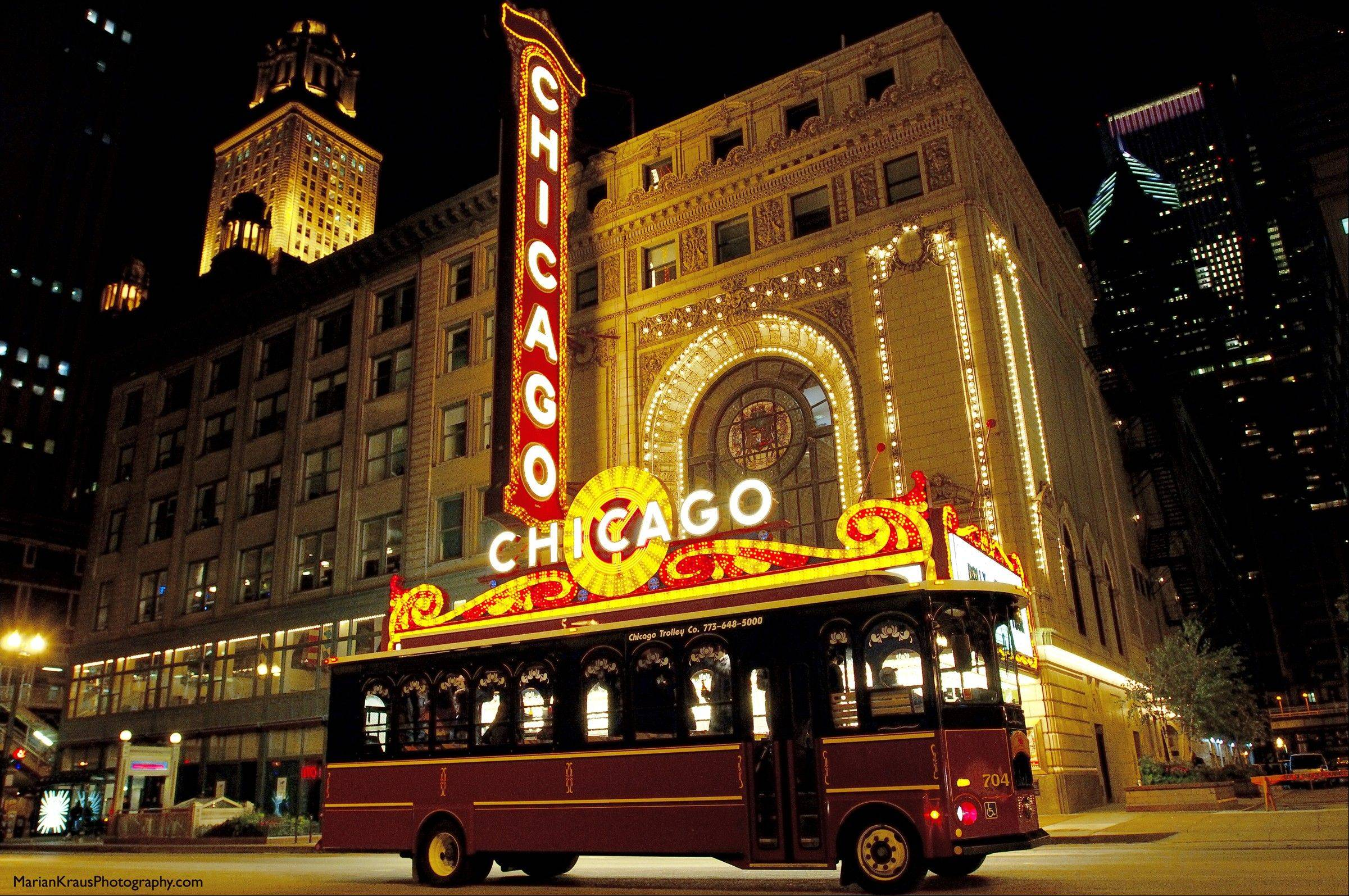 See the lights from the comfort of a warm trolley on a Chicago Trolley Holiday Lights Tour.