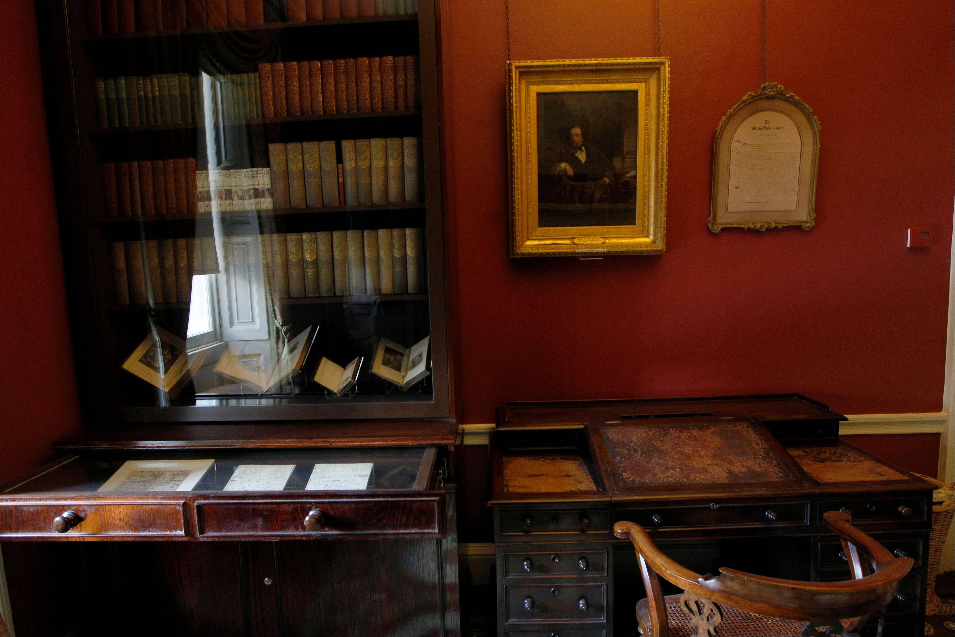 The study in Charles Dickens' home is part of the renovated Charles Dickens Museum in London.