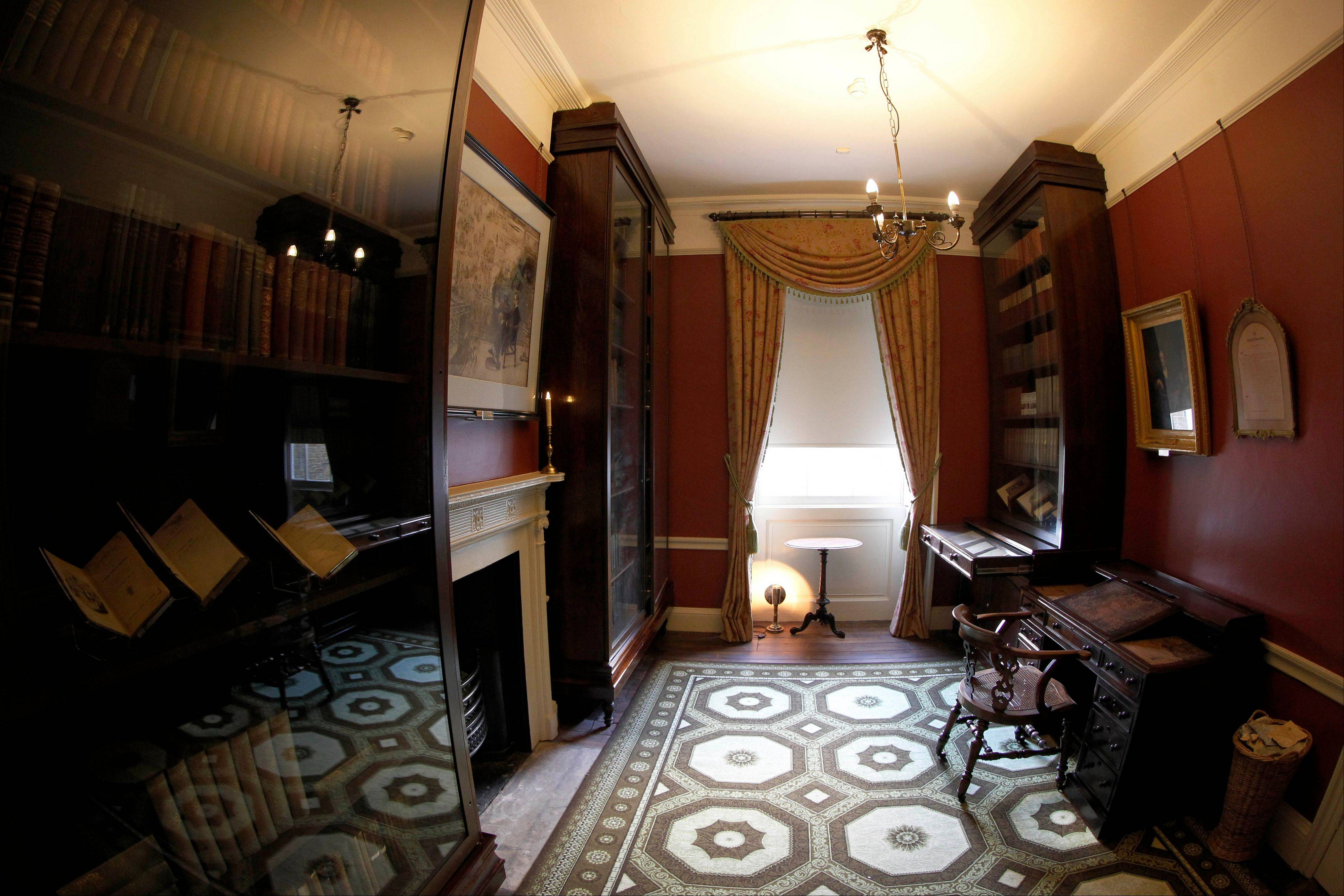 The study in Charles Dickens' home is part of the Charles Dickens Museum in London. After a $4.8 million makeover, it has been restored to bring the writer's world to life.