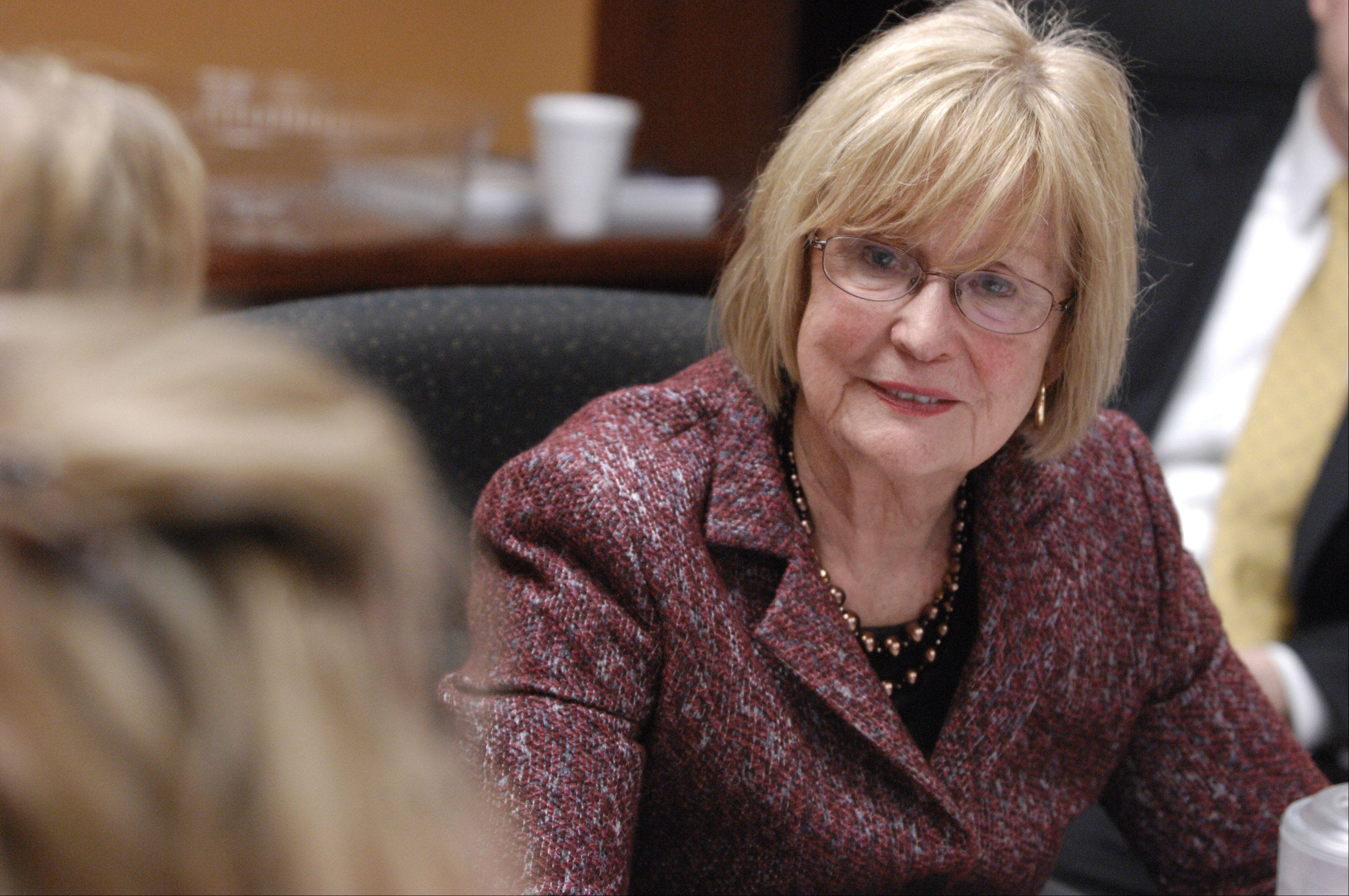 "U.S. Rep. Judy Biggert of Hinsdale reflected on her political past -- and future -- Friday in a taping of WBBM Newsradio 780's ""At Issue,"" hosted by Political Editor Craig Dellimore and the Daily Herald, which will air in full Sunday morning."