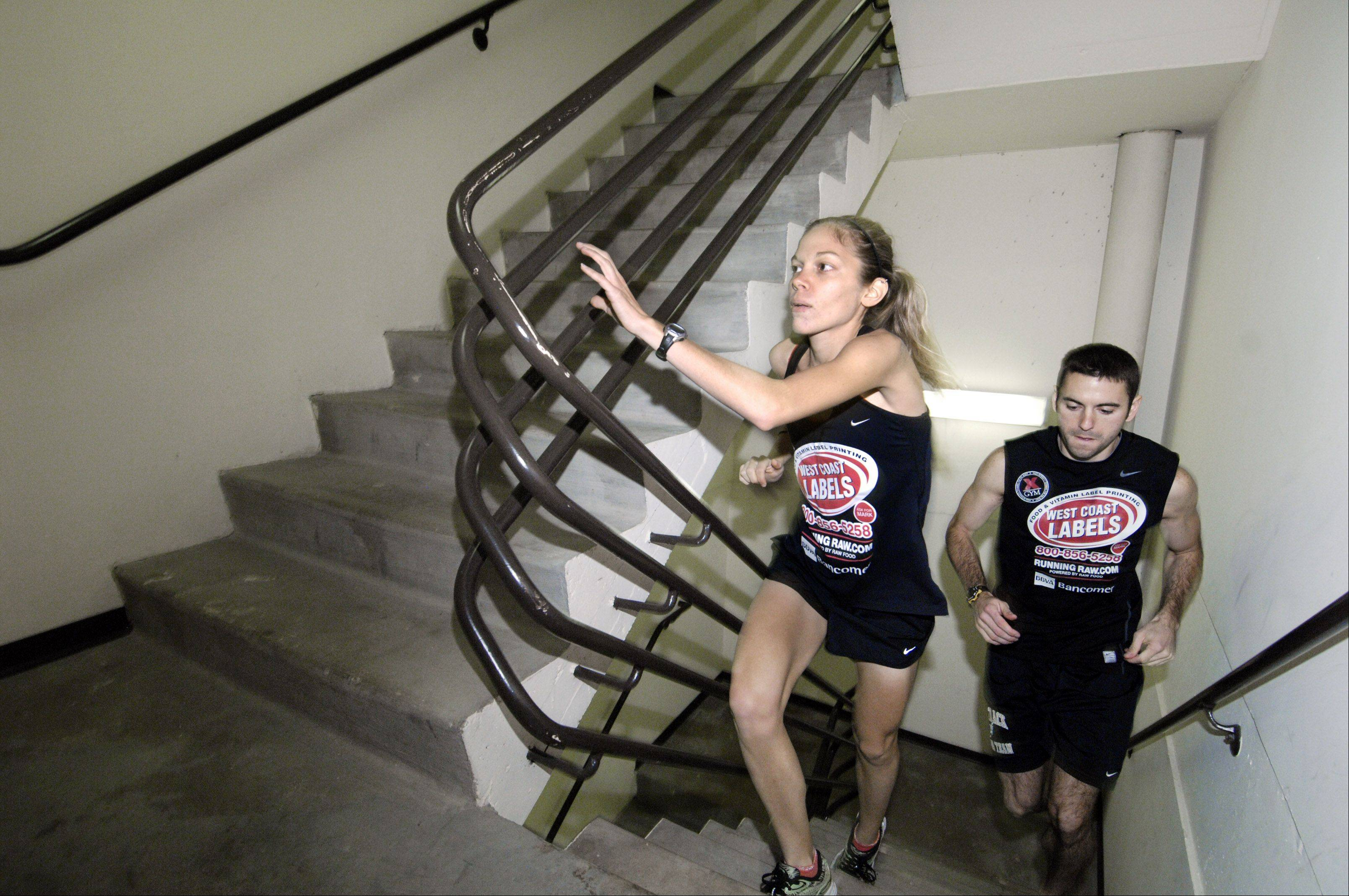 Schaumburg resident Kristin Frey, 28, will join a team of four attempting a new world record by climbing stairs for 24 continuous hours Jan. 4 in Jacksonville, Fla.