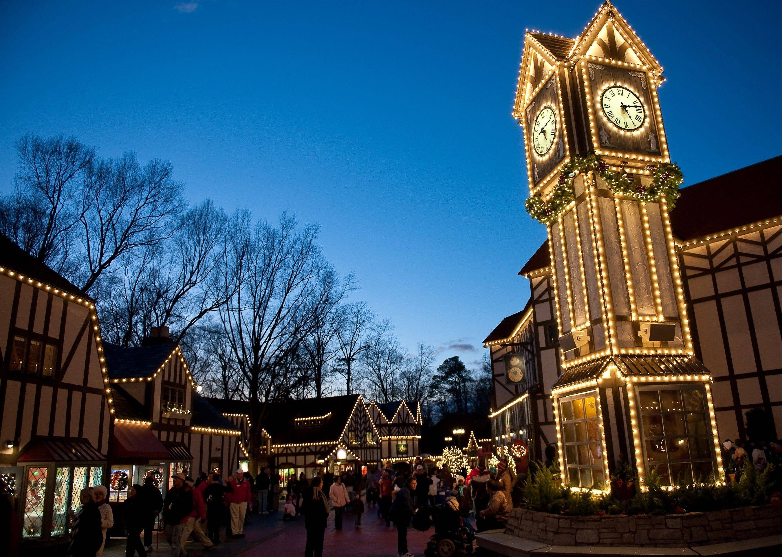 Christmas Town returns for a fourth season at Busch Gardens Willimasburg with 6 million lights adorning nearly every building. The display includes 1,500 trees, 700 wreaths and 20,000 ornaments.