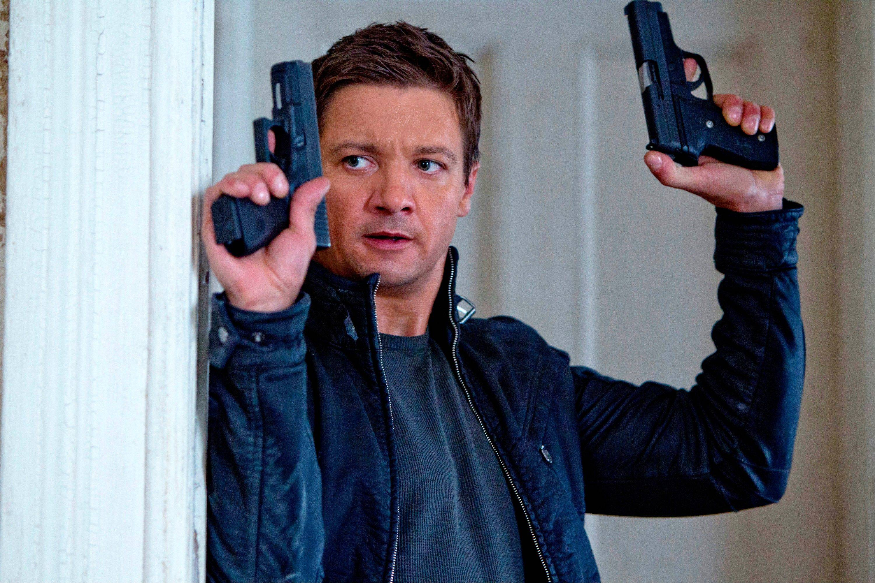 "Jeremy Renner plays spy Aaron Cross in ""The Bourne Legacy"" coming out on DVD."